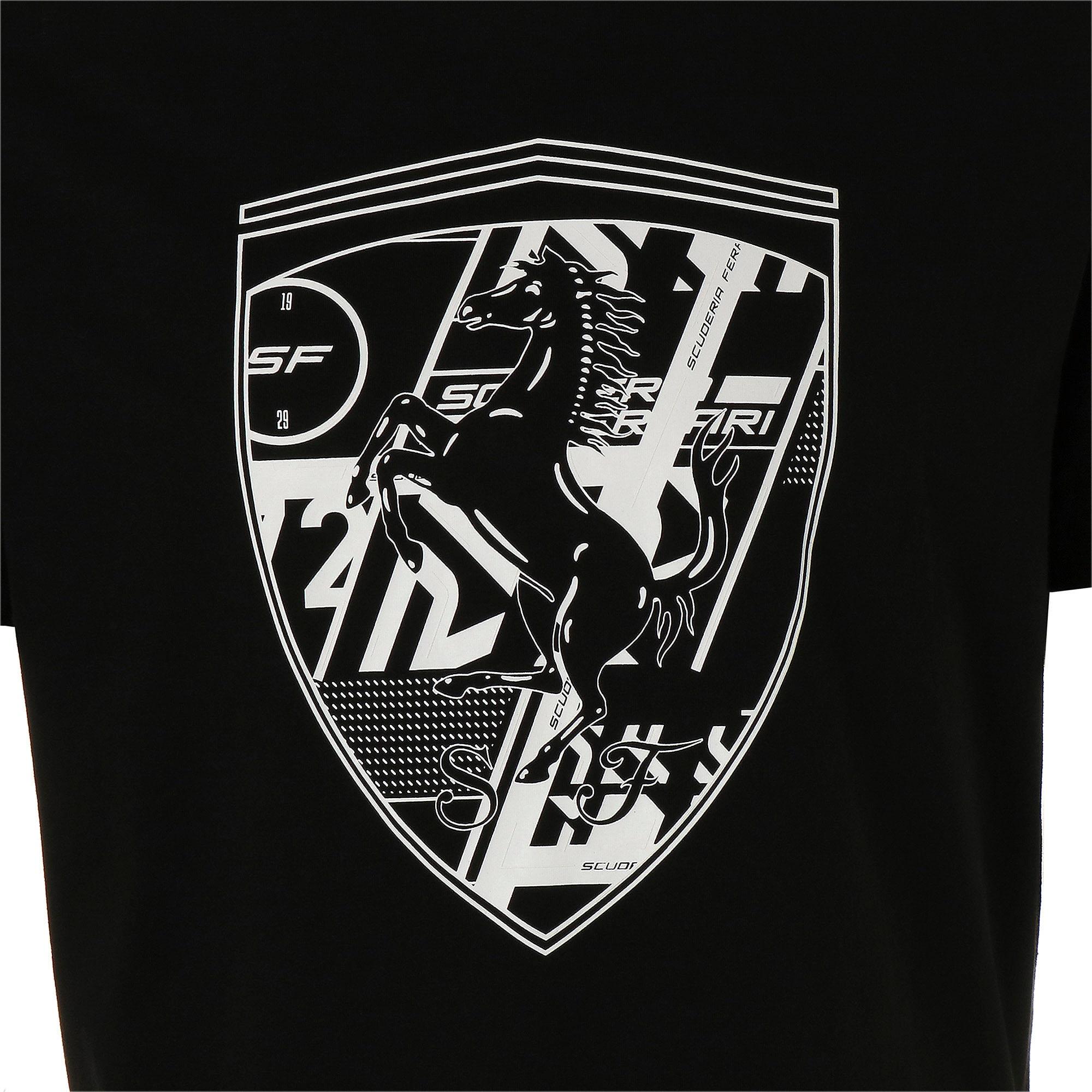 Thumbnail 7 of フェラーリ ビッグシールド Tシャツ + 半袖, Puma Black, medium-JPN
