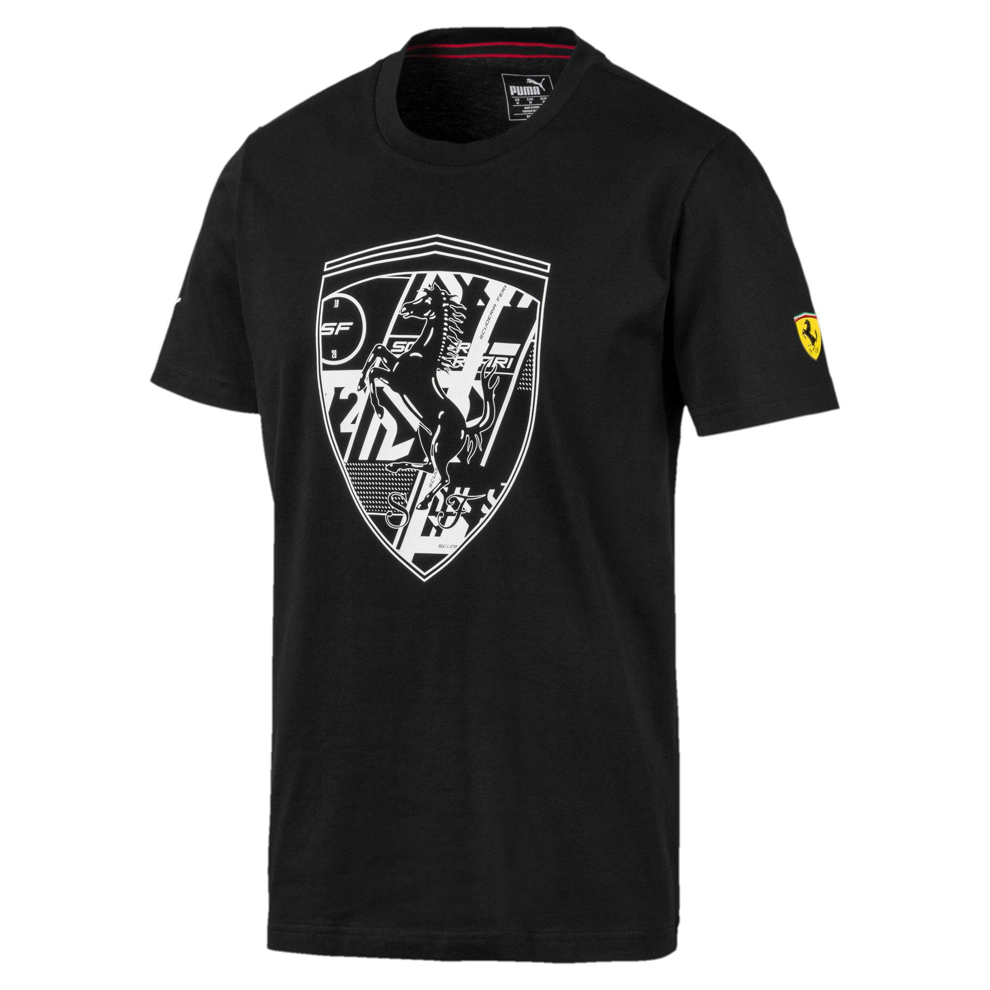 Thumbnail 1 of フェラーリ ビッグシールド Tシャツ + 半袖, Puma Black, medium-JPN