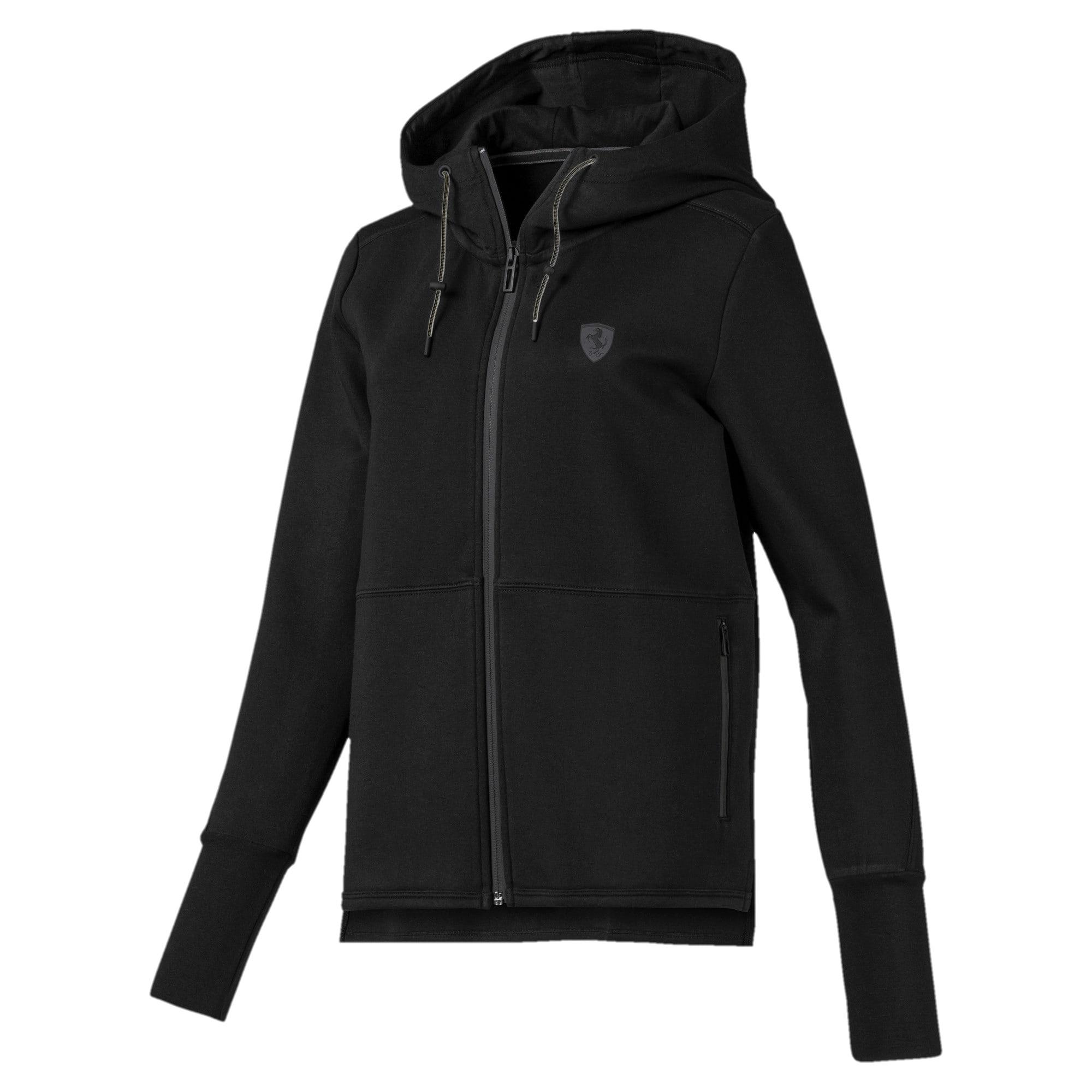 Thumbnail 1 of Scuderia Ferrari Women's Hooded Sweat Jacket, Puma Black, medium