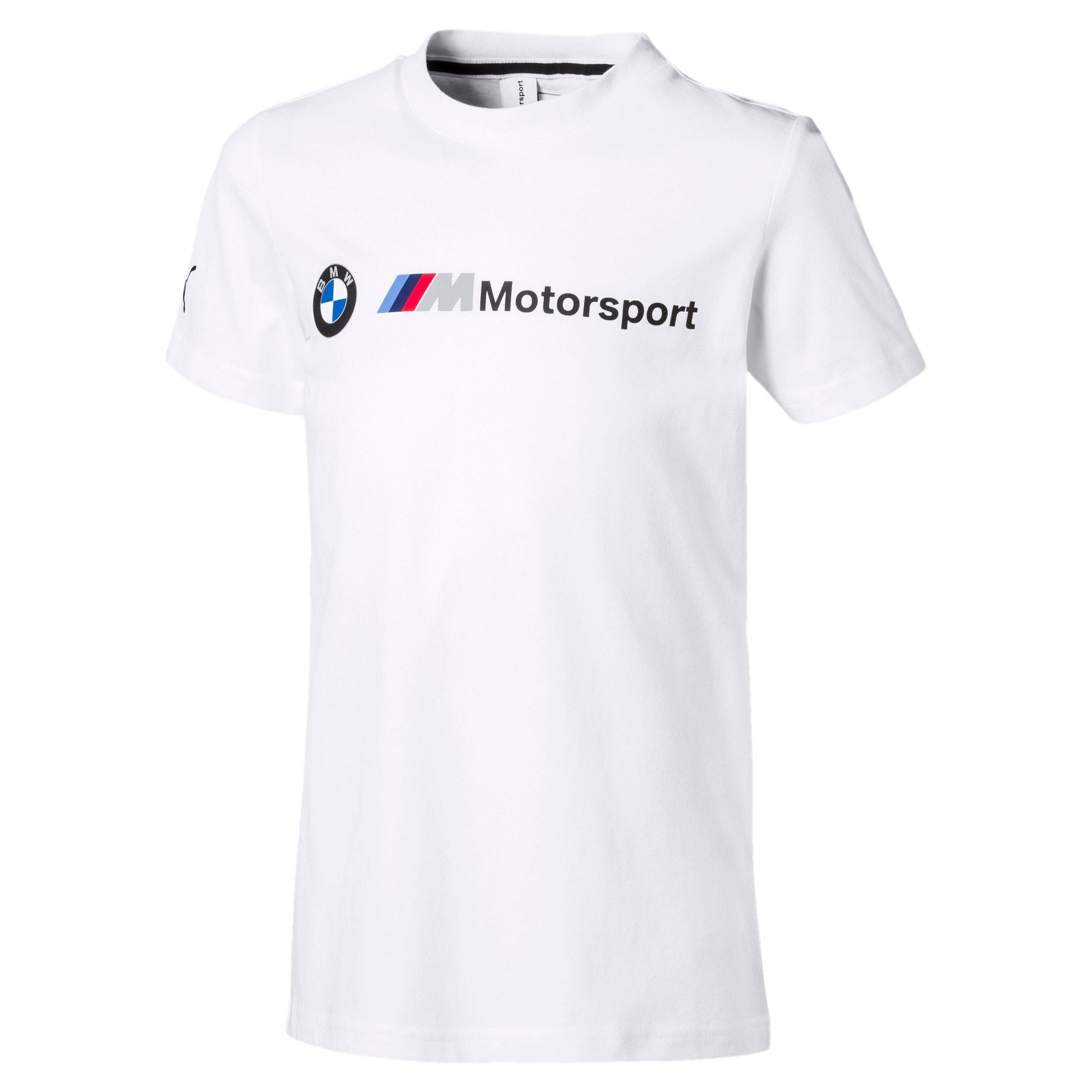 Miniatura 1 de Camiseta con logo BMW M Motorsport para niño joven, Puma White, mediano