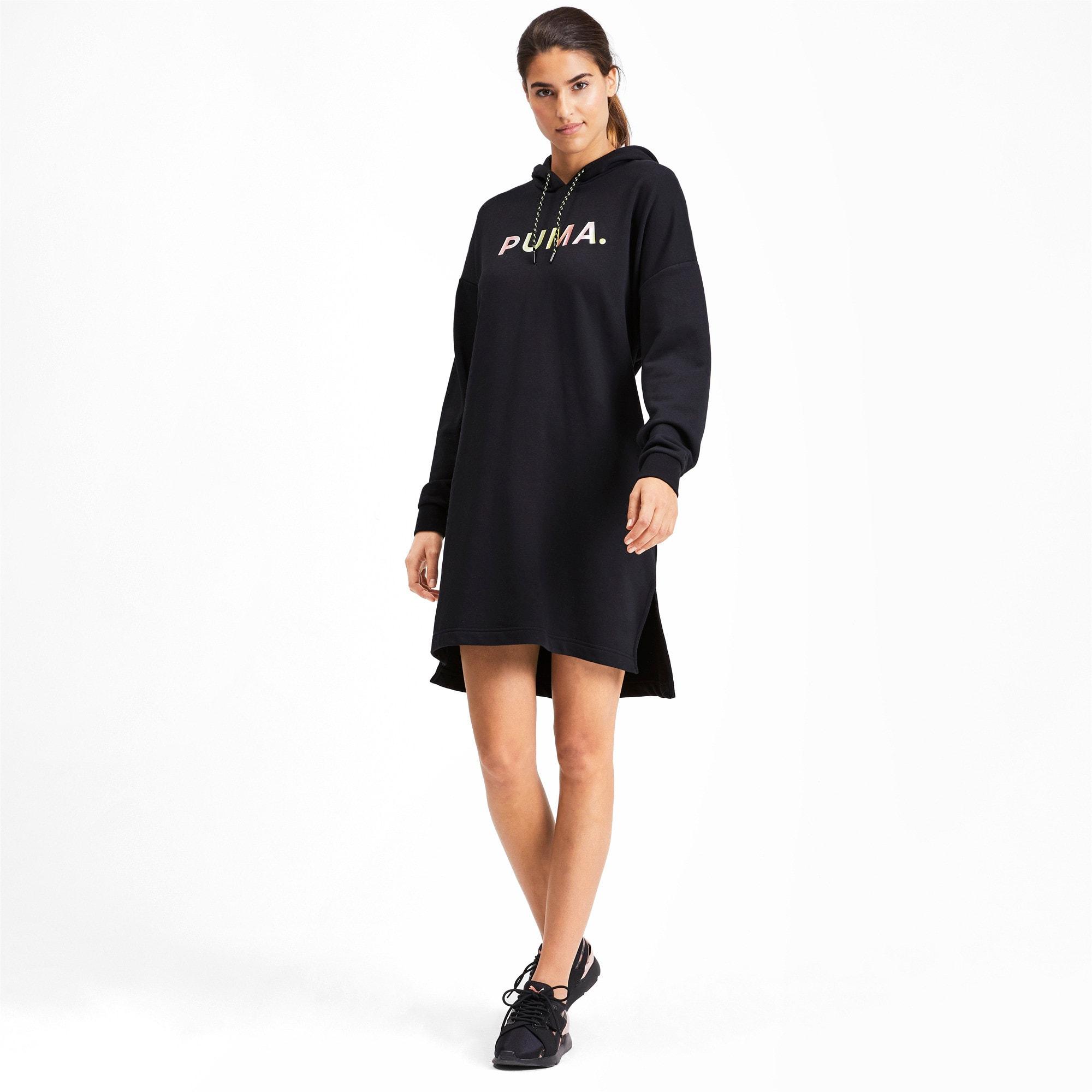 Thumbnail 3 of Chase Hooded Women's Dress, Puma Black, medium