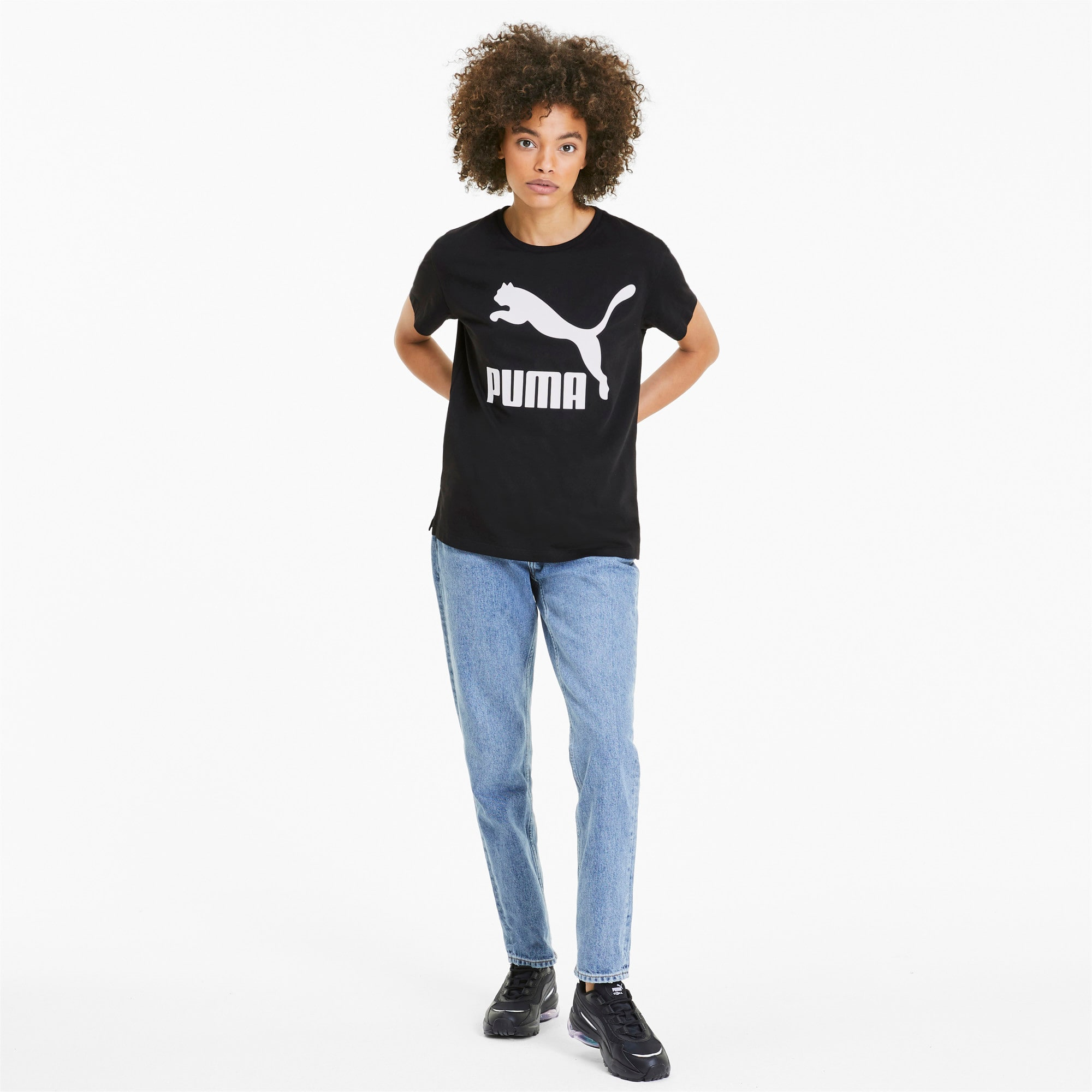 Thumbnail 3 of Classics Women's Logo Tee, Puma Black, medium
