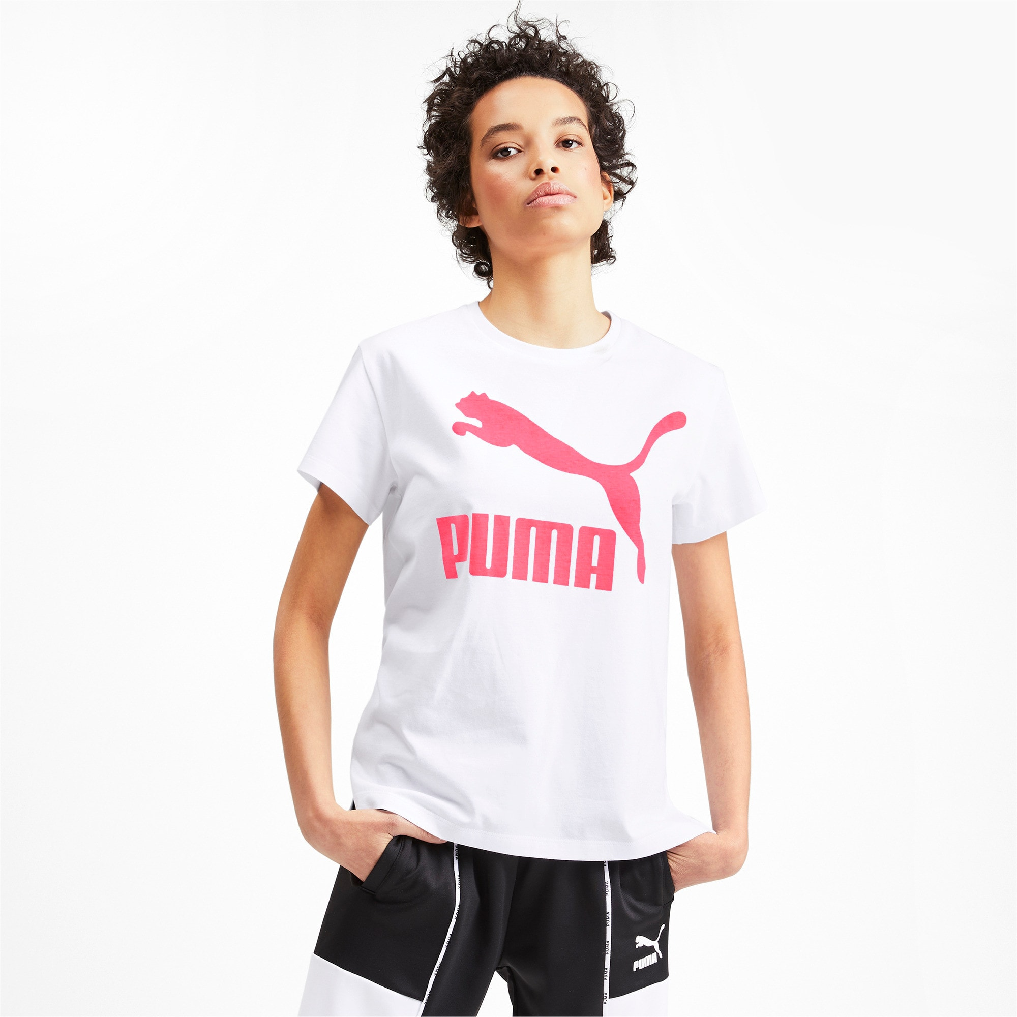 Thumbnail 1 of Classics Logo Women's Tee, Puma White, medium