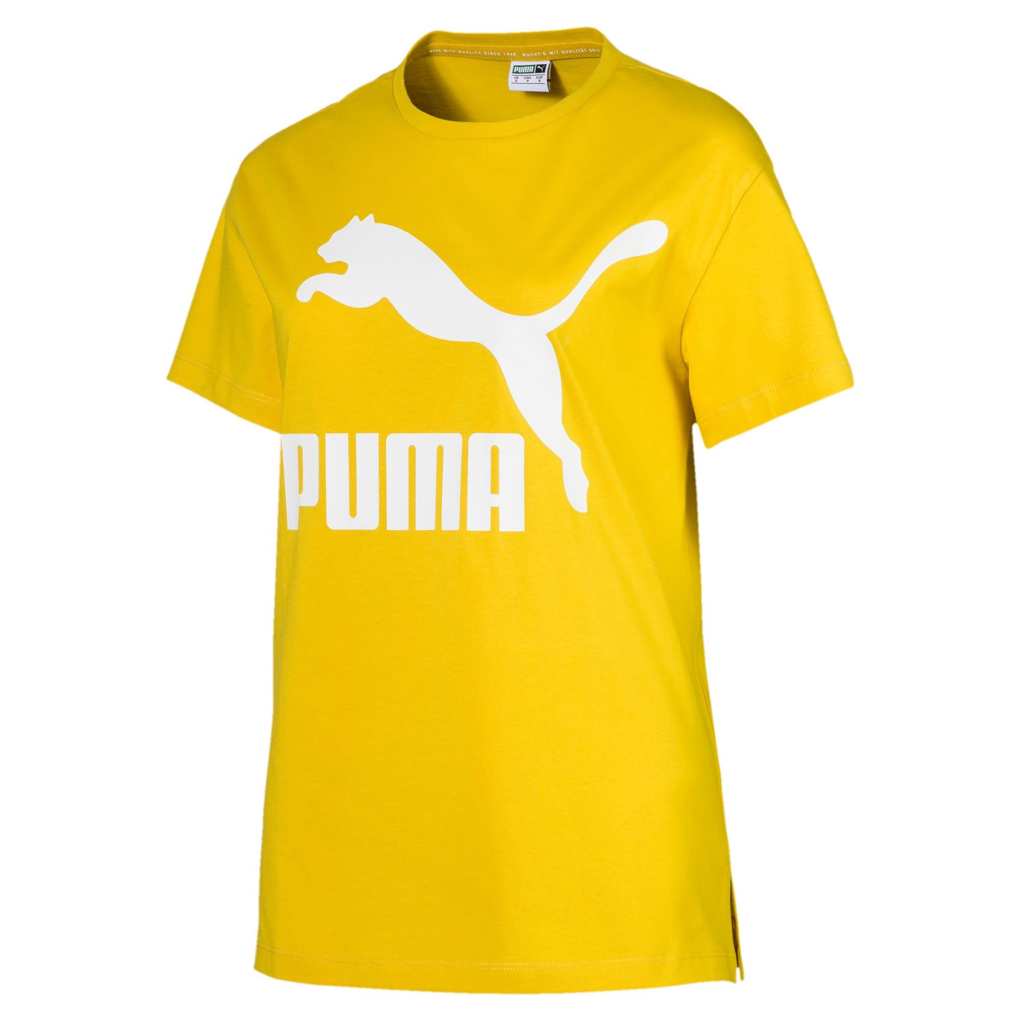 Miniatura 4 de Camiseta Classics con logotipo para mujer, Sulphur, mediano