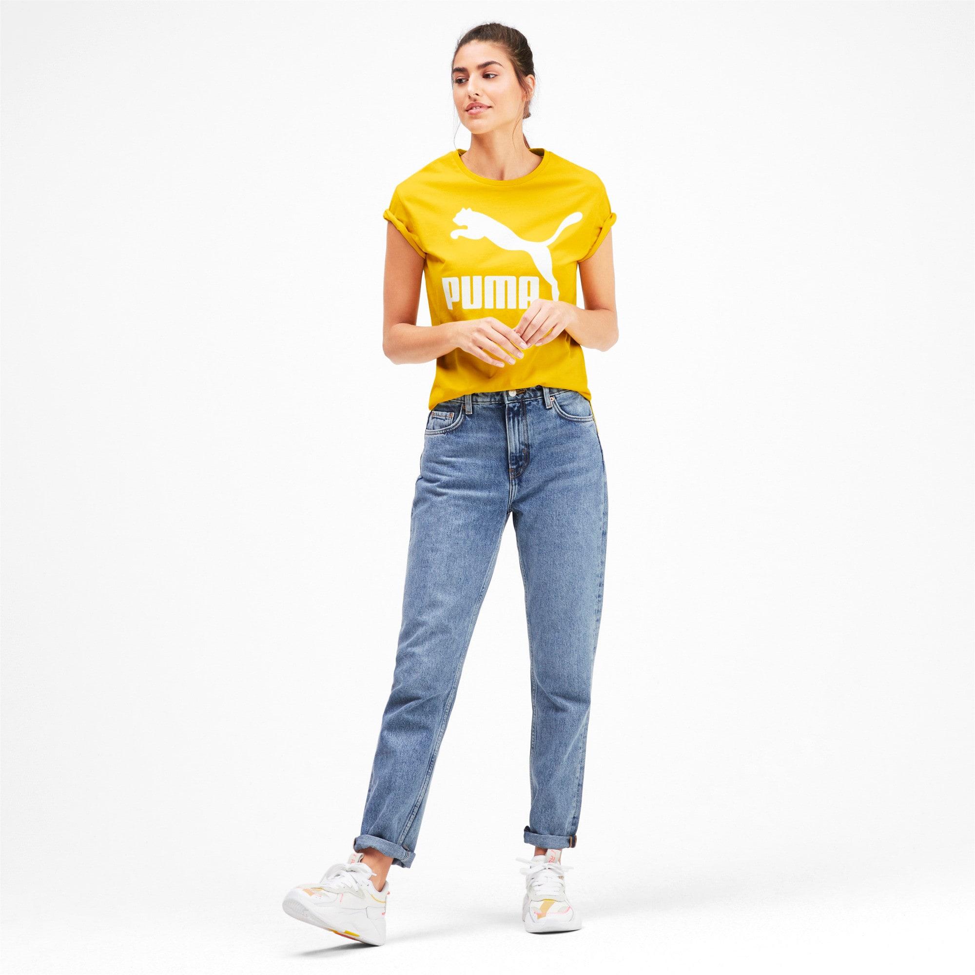 Miniatura 3 de Camiseta Classics con logotipo para mujer, Sulphur, mediano