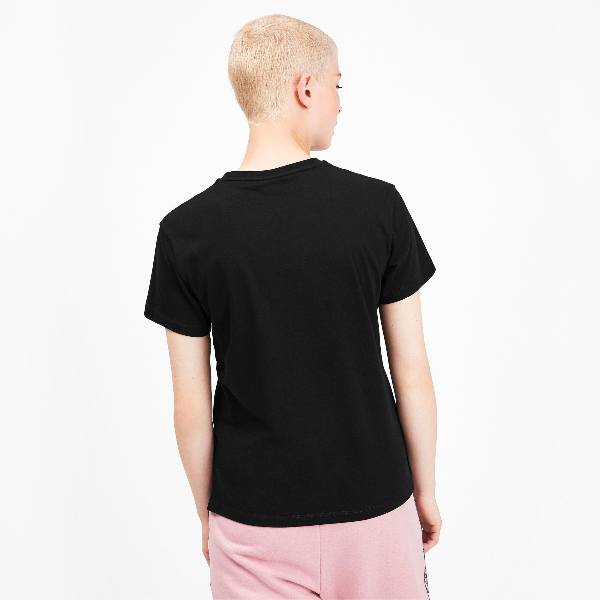 Miniatura 2 de Camiseta Classics con logotipo para mujer, Puma Black, mediano