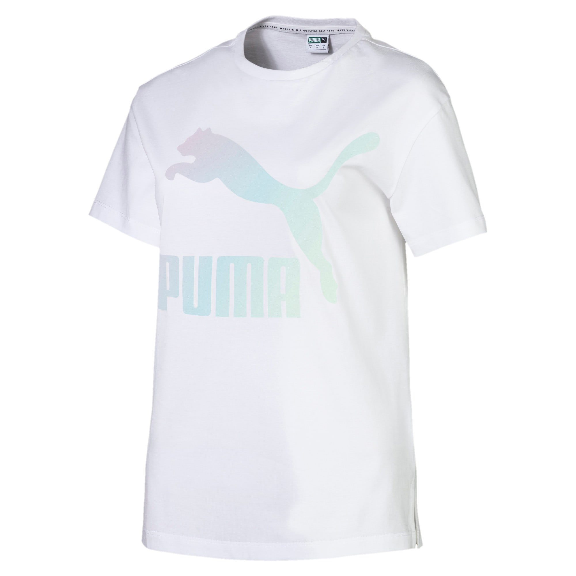 Thumbnail 4 of Classics Women's Logo Tee, Puma White, medium