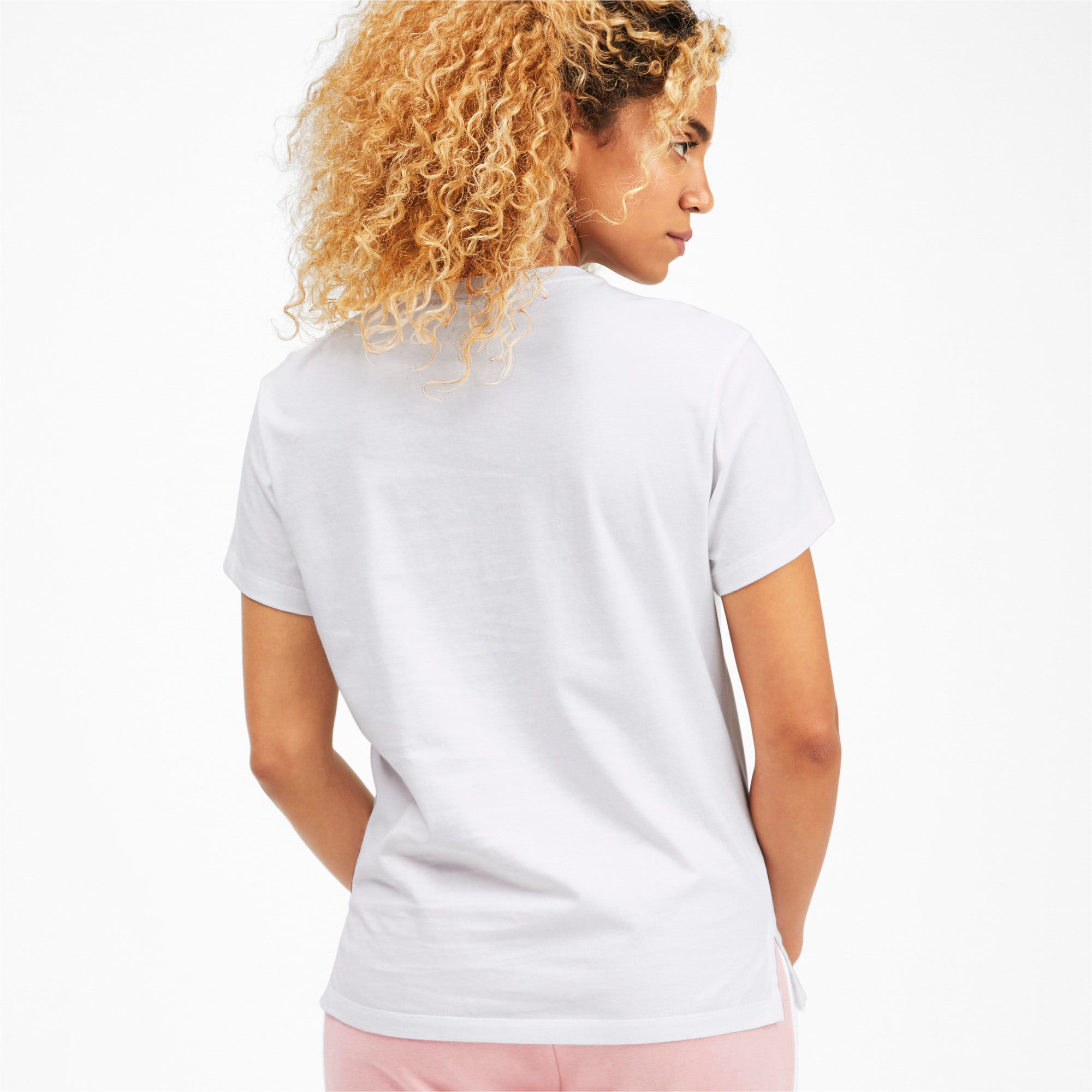 Thumbnail 2 of Classics Women's Logo Tee, Puma White, medium