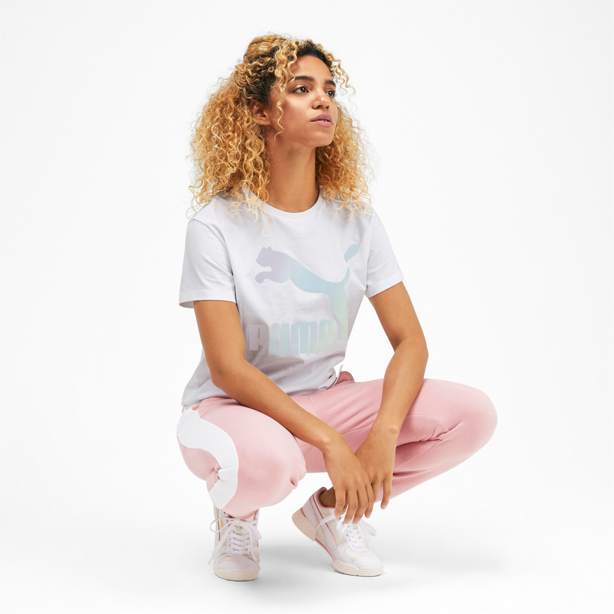 Thumbnail 3 of Classics Women's Logo Tee, Puma White, medium