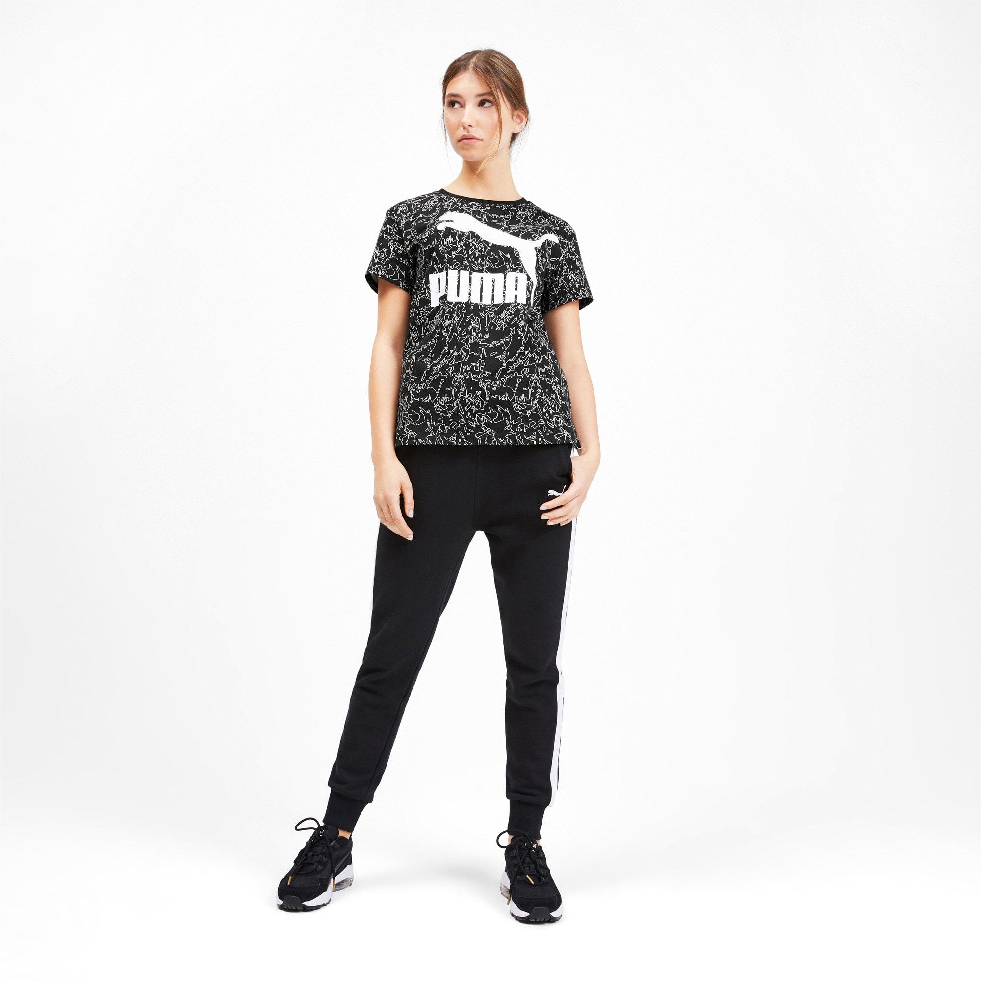 Miniatura 3 de Camiseta Classics AOP con logo para mujer, Puma Black, mediano