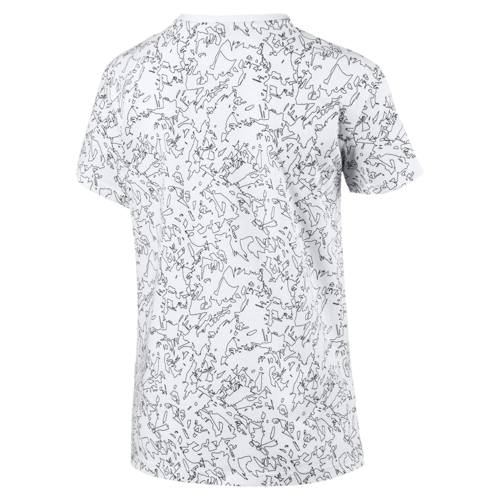 Miniatura 5 de Camiseta Classics AOP con logo para mujer, Puma White, mediano