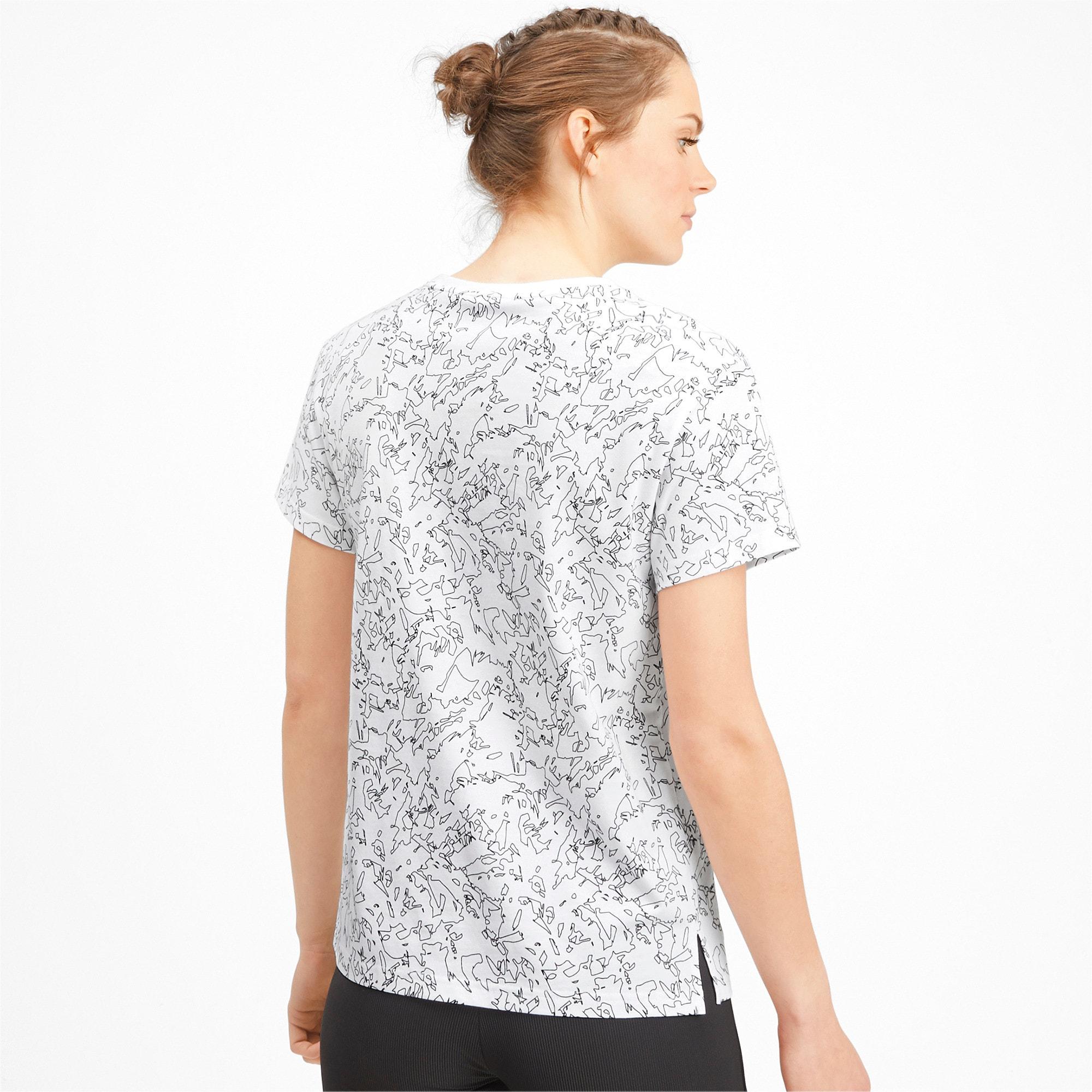 Miniatura 2 de Camiseta Classics AOP con logo para mujer, Puma White, mediano