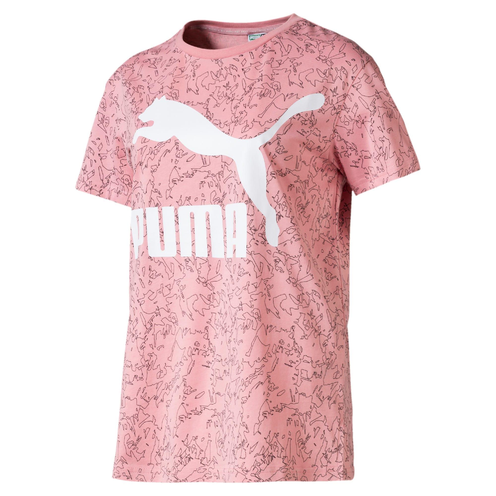 Miniatura 4 de Camiseta Classics AOP con logo para mujer, Bridal Rose, mediano
