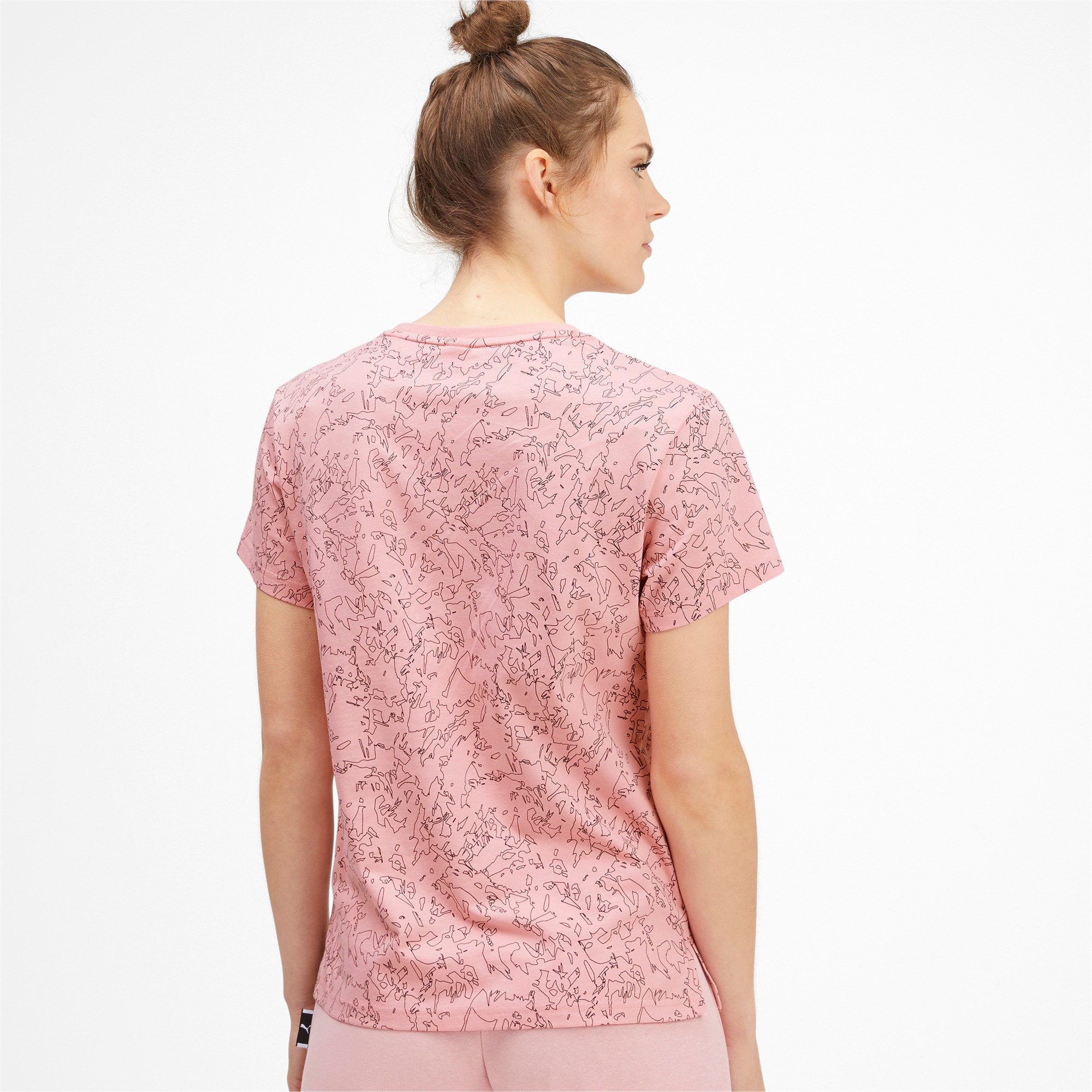Miniatura 2 de Camiseta Classics AOP con logo para mujer, Bridal Rose, mediano