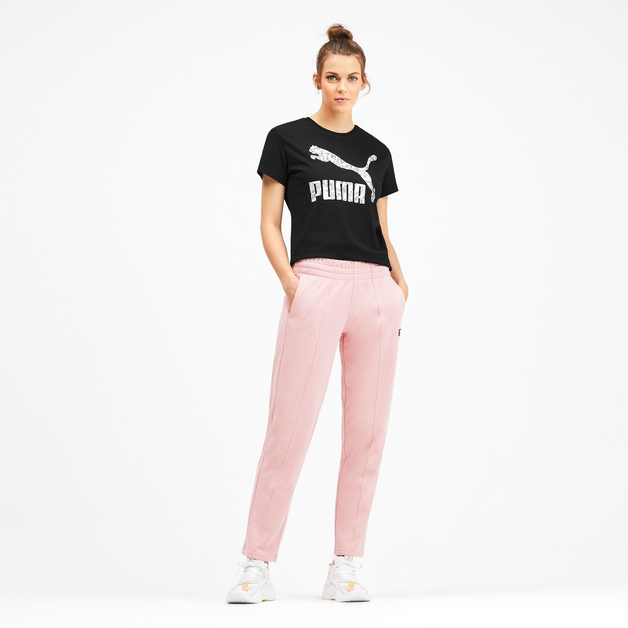 Miniatura 4 de Camiseta Classics AOP con logo para mujer, Puma Black, mediano