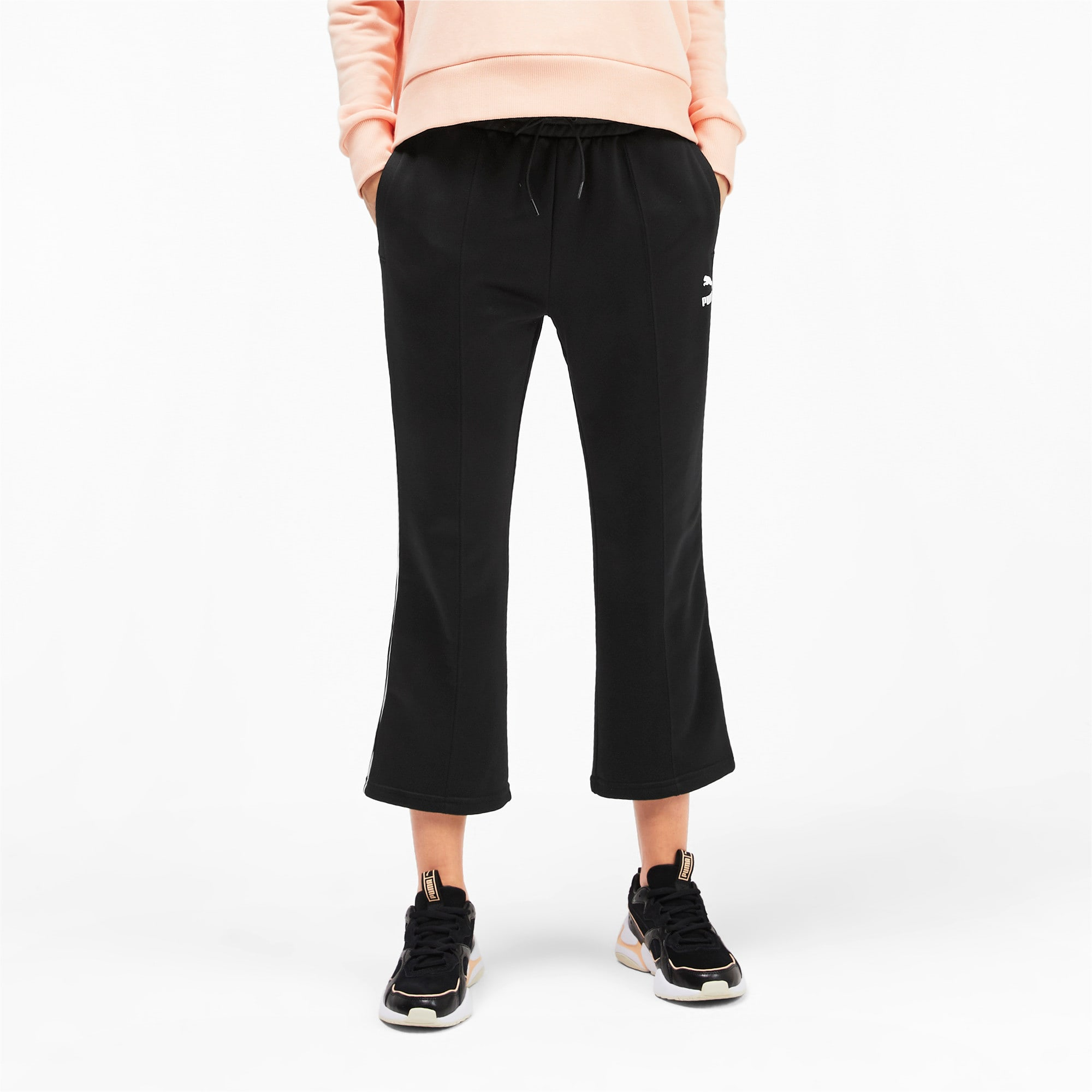 Thumbnail 1 of Classics Kick Flare Knitted Women's Pants, Puma Black, medium