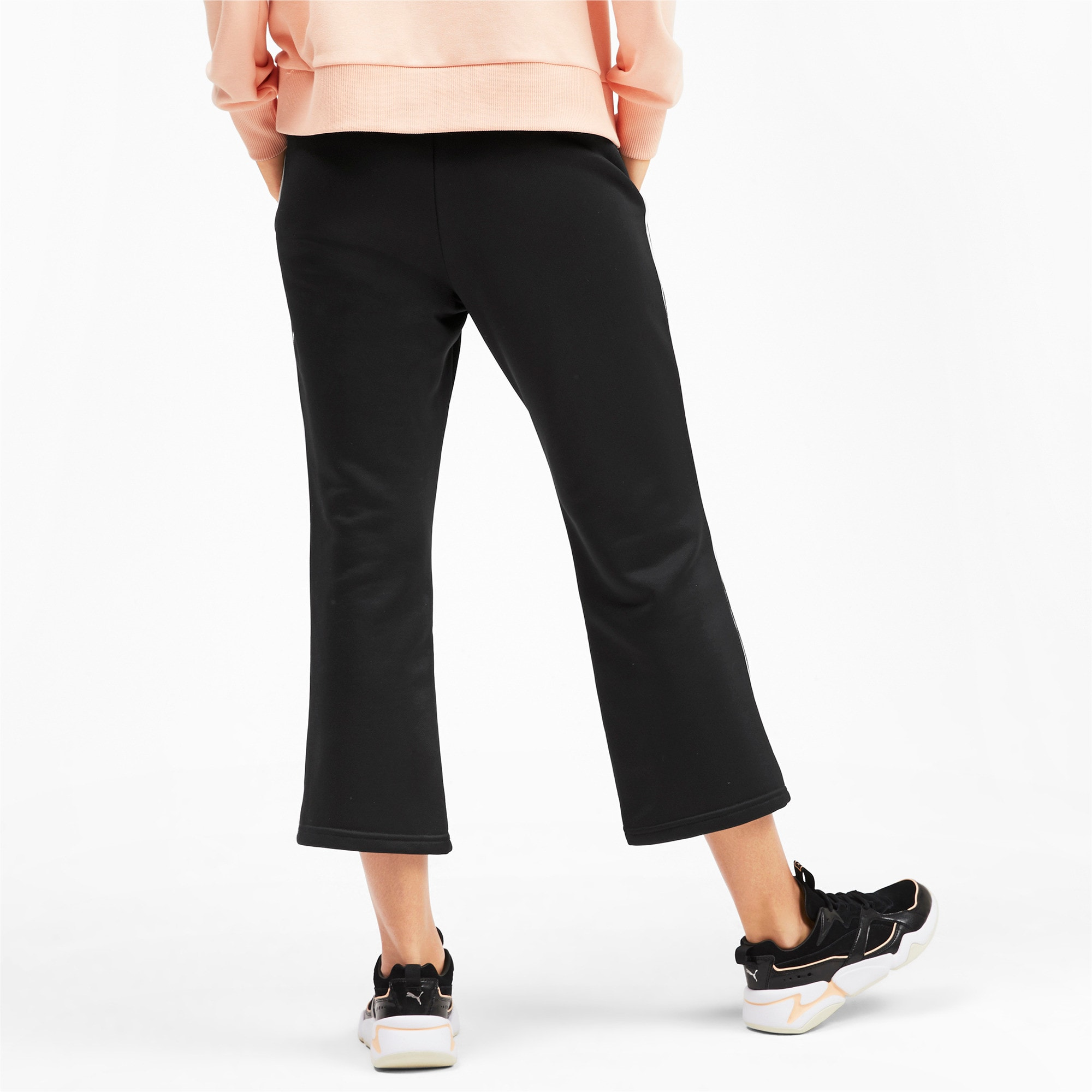 Thumbnail 2 of Classics Kick Flare Knitted Women's Pants, Puma Black, medium
