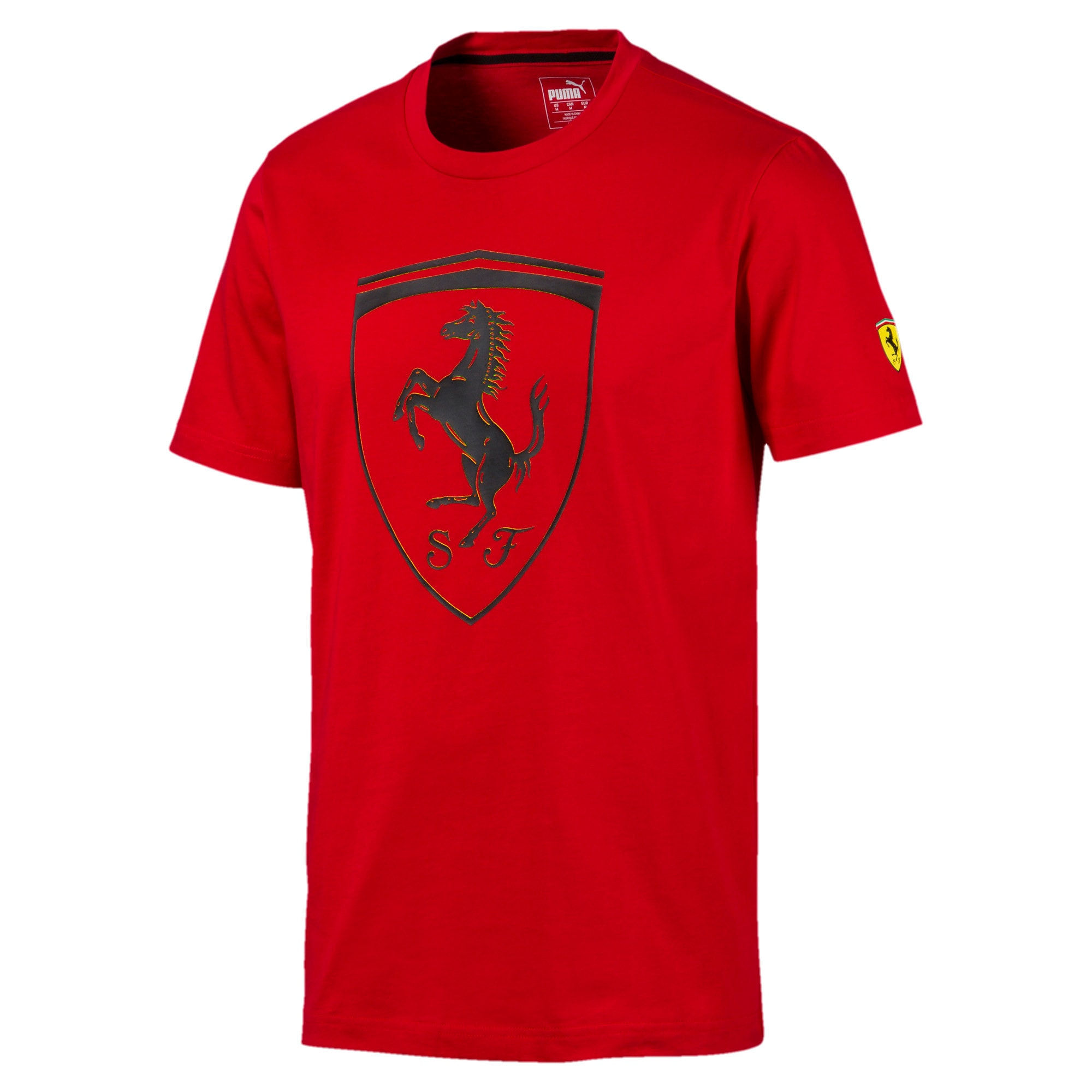 Thumbnail 4 of Ferrari Big Shield Men's Tee, Rosso Corsa, medium
