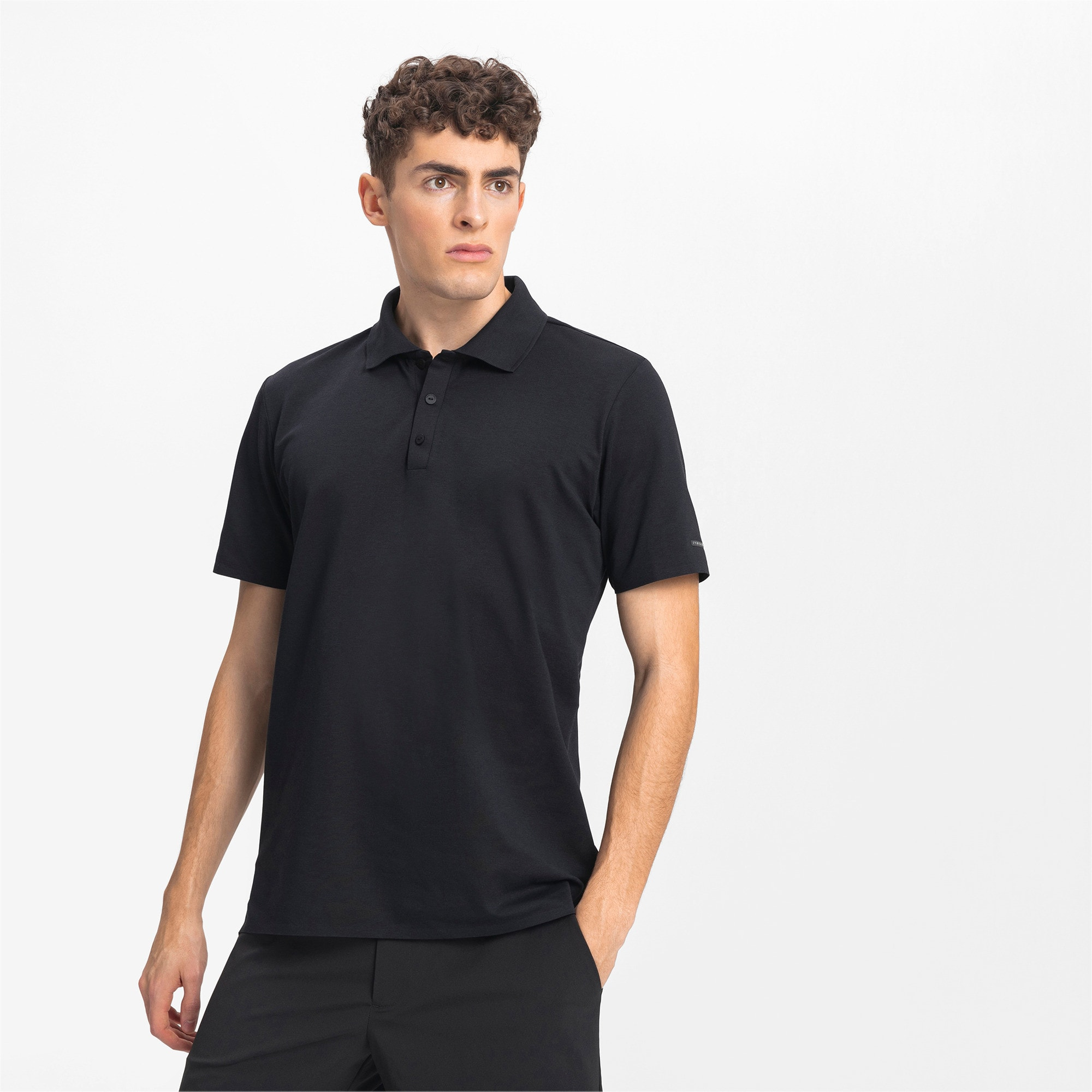 Thumbnail 1 of Men's Motorsports Polo, Jet Black, medium