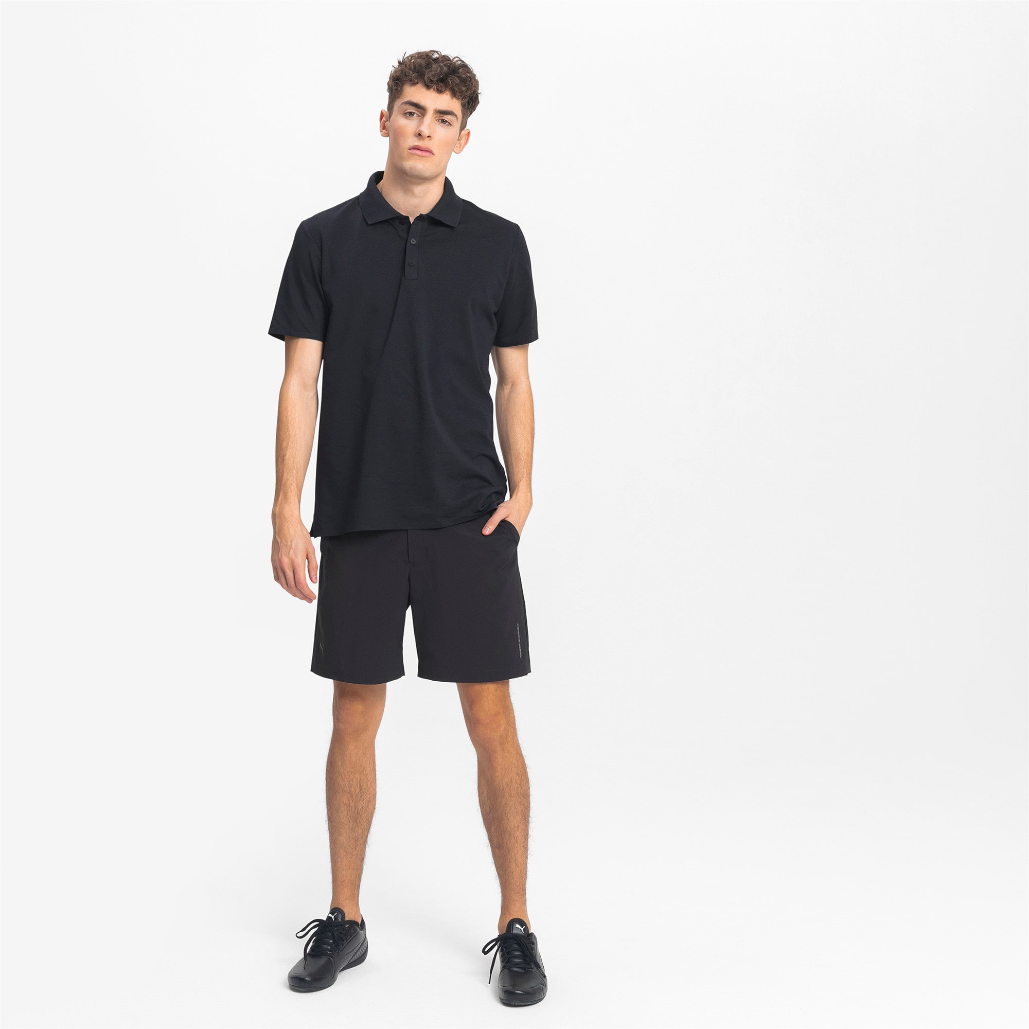 Thumbnail 3 of Men's Motorsports Polo, Jet Black, medium