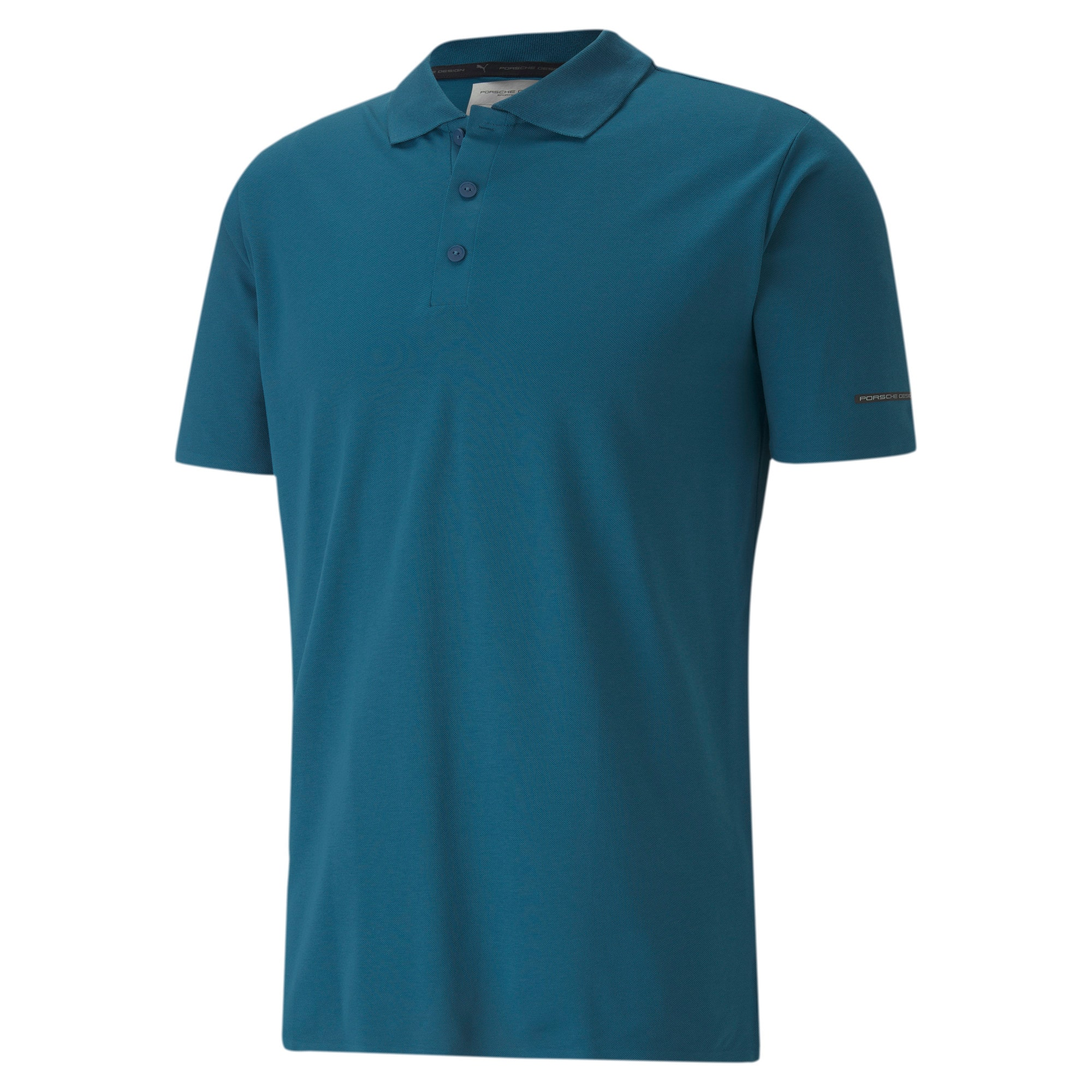 Thumbnail 4 of Men's Motorsports Polo, Moroccan Blue, medium