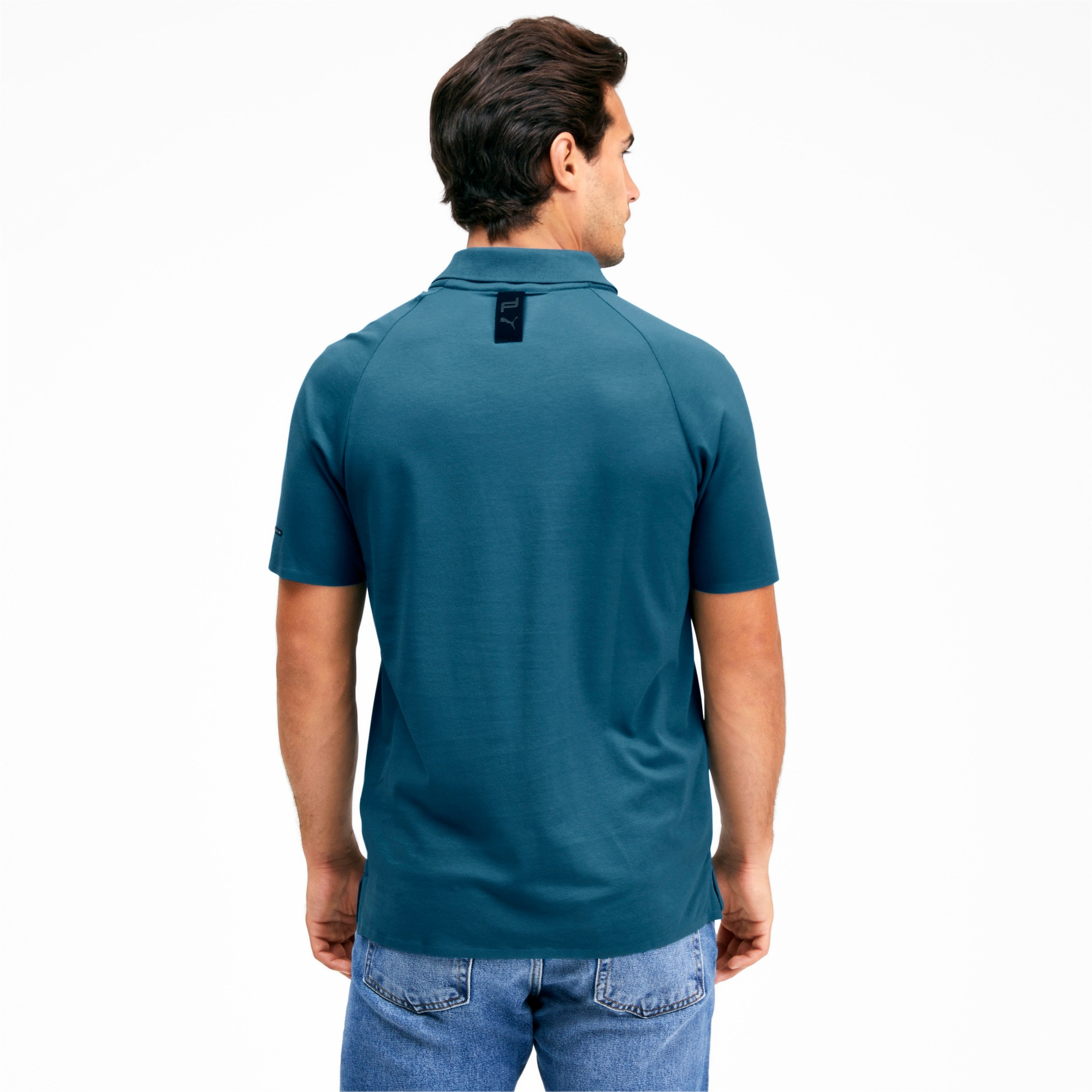 Thumbnail 2 of Men's Motorsports Polo, Moroccan Blue, medium