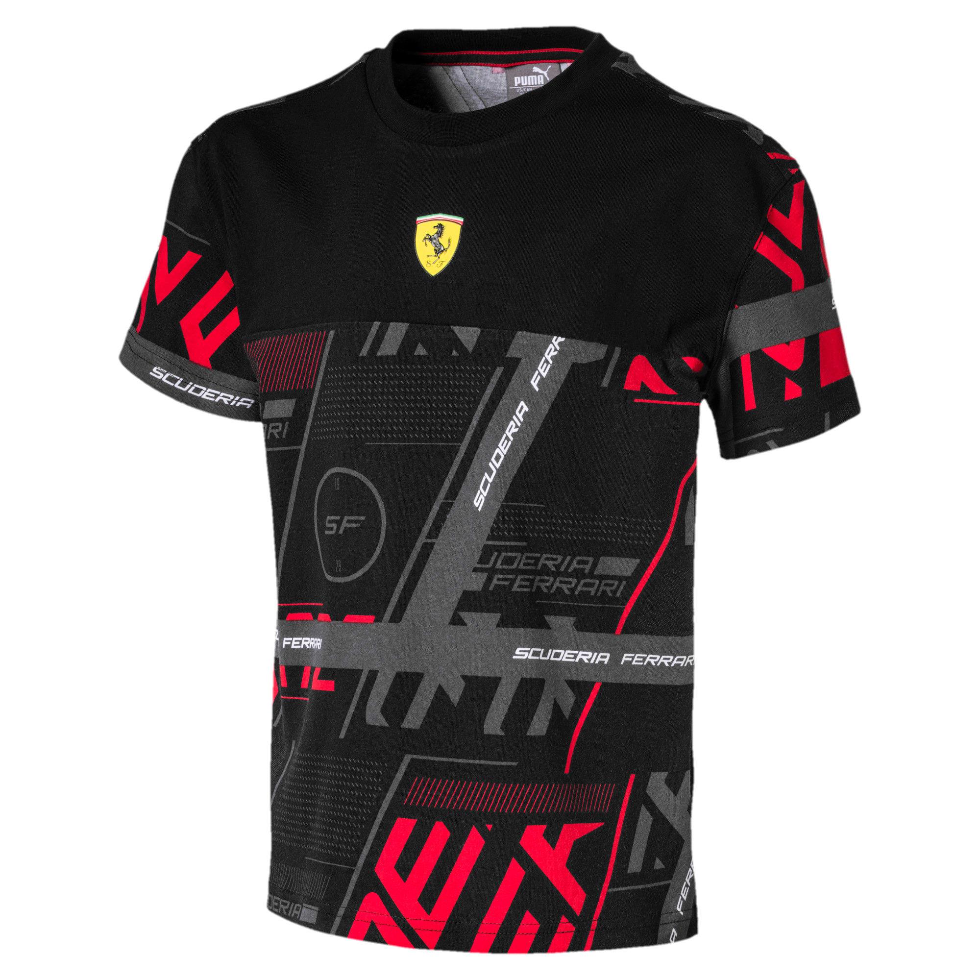 Miniatura 1 de Camiseta urbana Scuderia Ferrari para niño joven, Puma Black, mediano