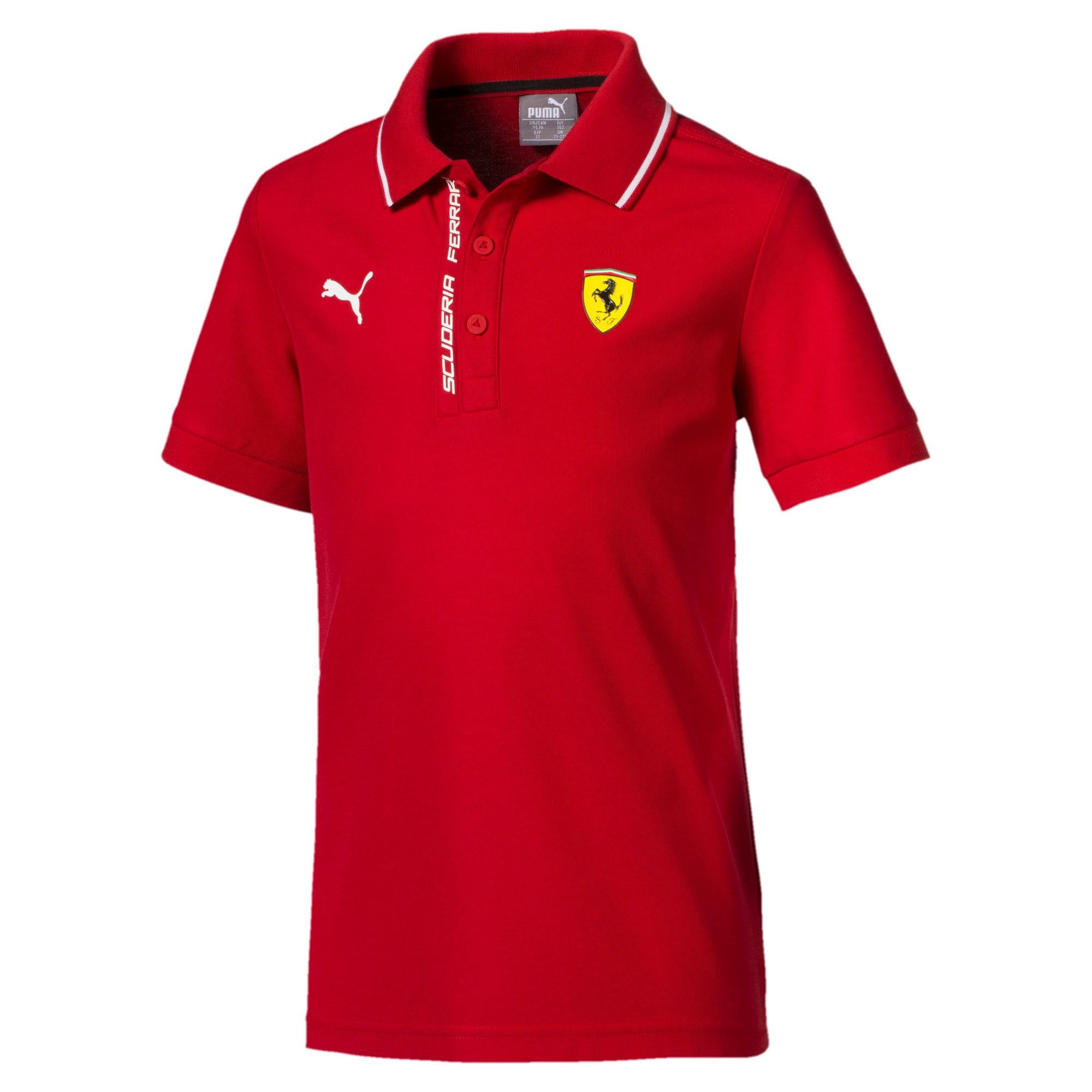 Thumbnail 1 of Ferrari Kids' Polo Shirt, Rosso Corsa, medium