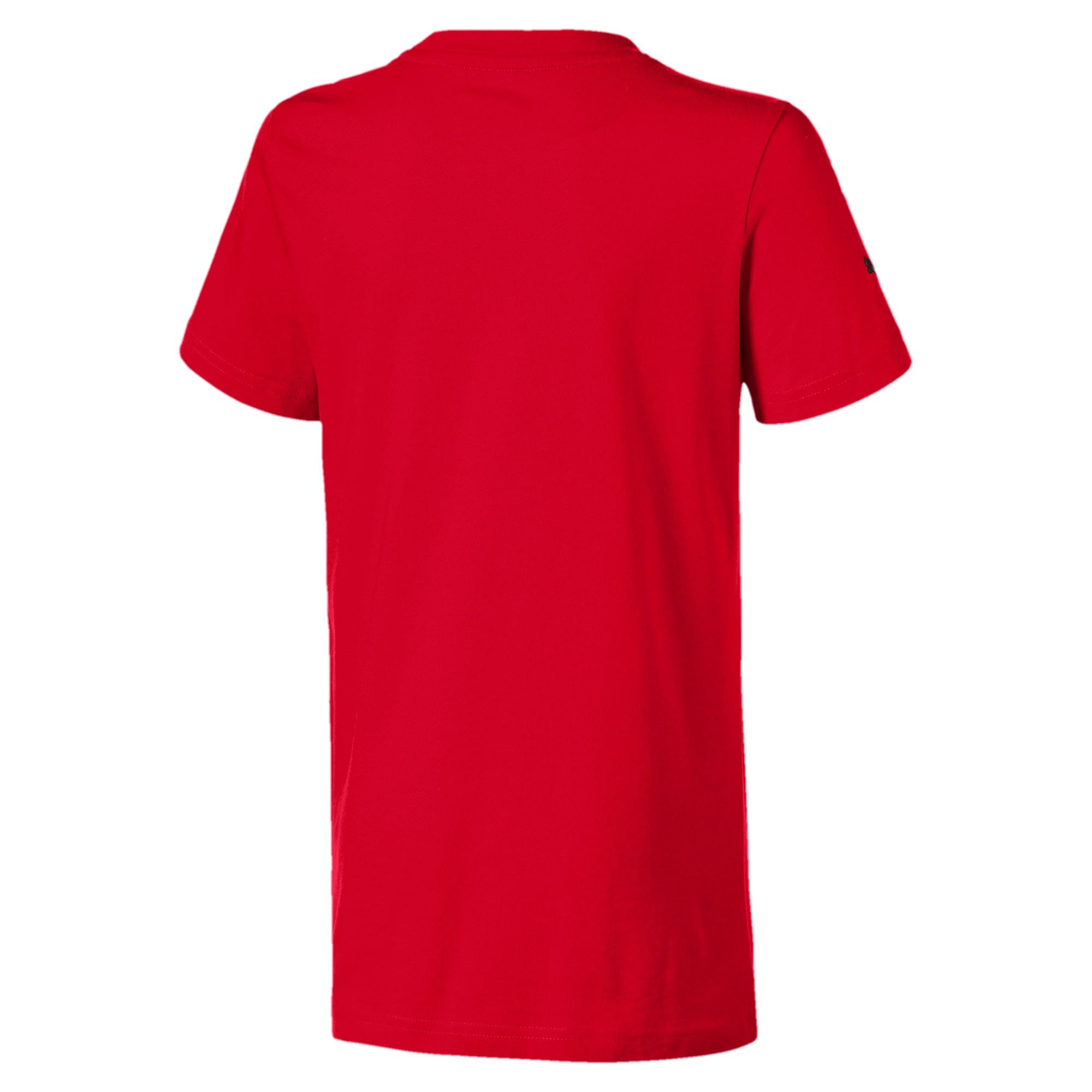 Miniatura 2 de Camiseta urbana Scuderia Ferraricon insignia grande para niño joven, Rosso Corsa, mediano