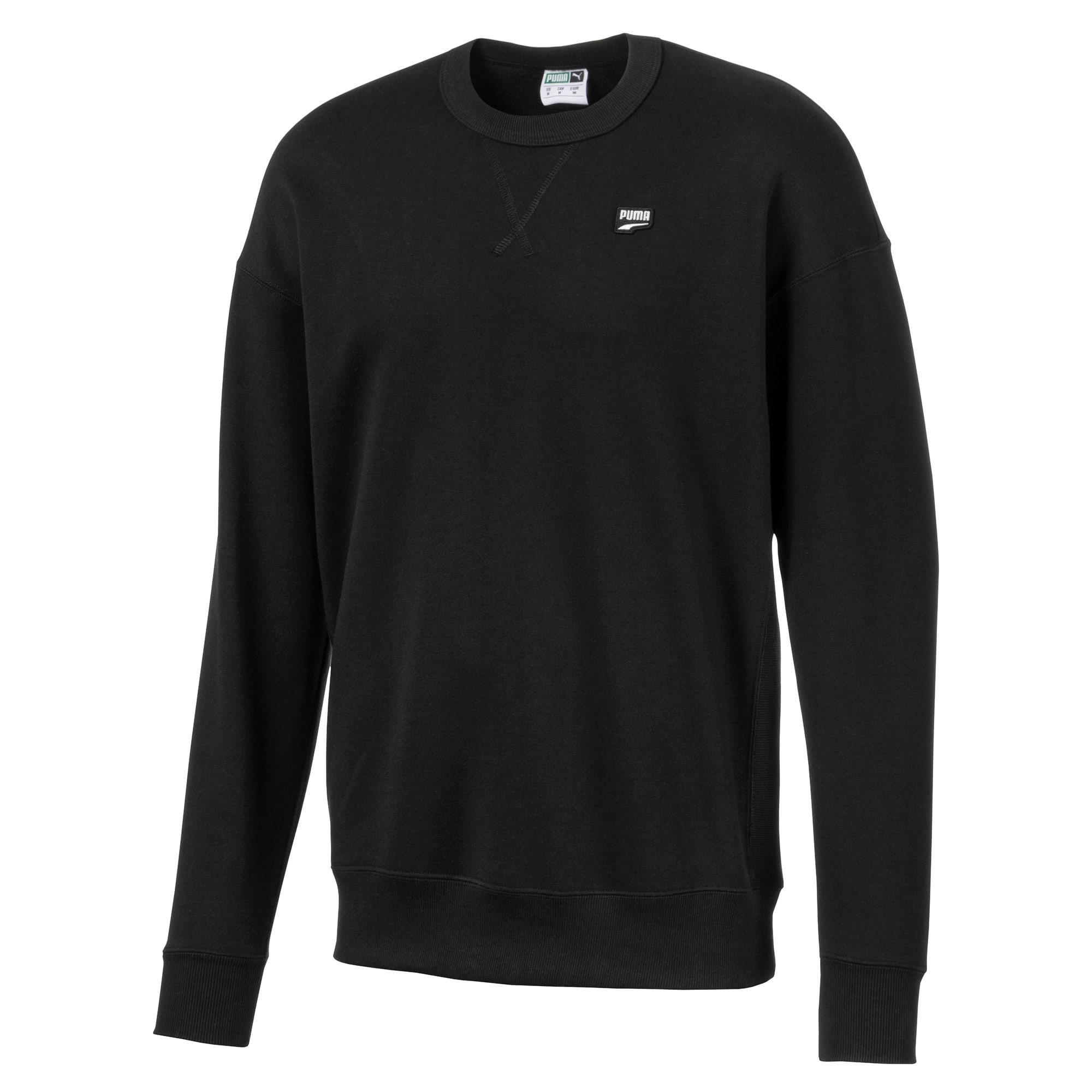 Thumbnail 1 of Downtown Men's Crewneck Sweatshirt, Puma Black, medium
