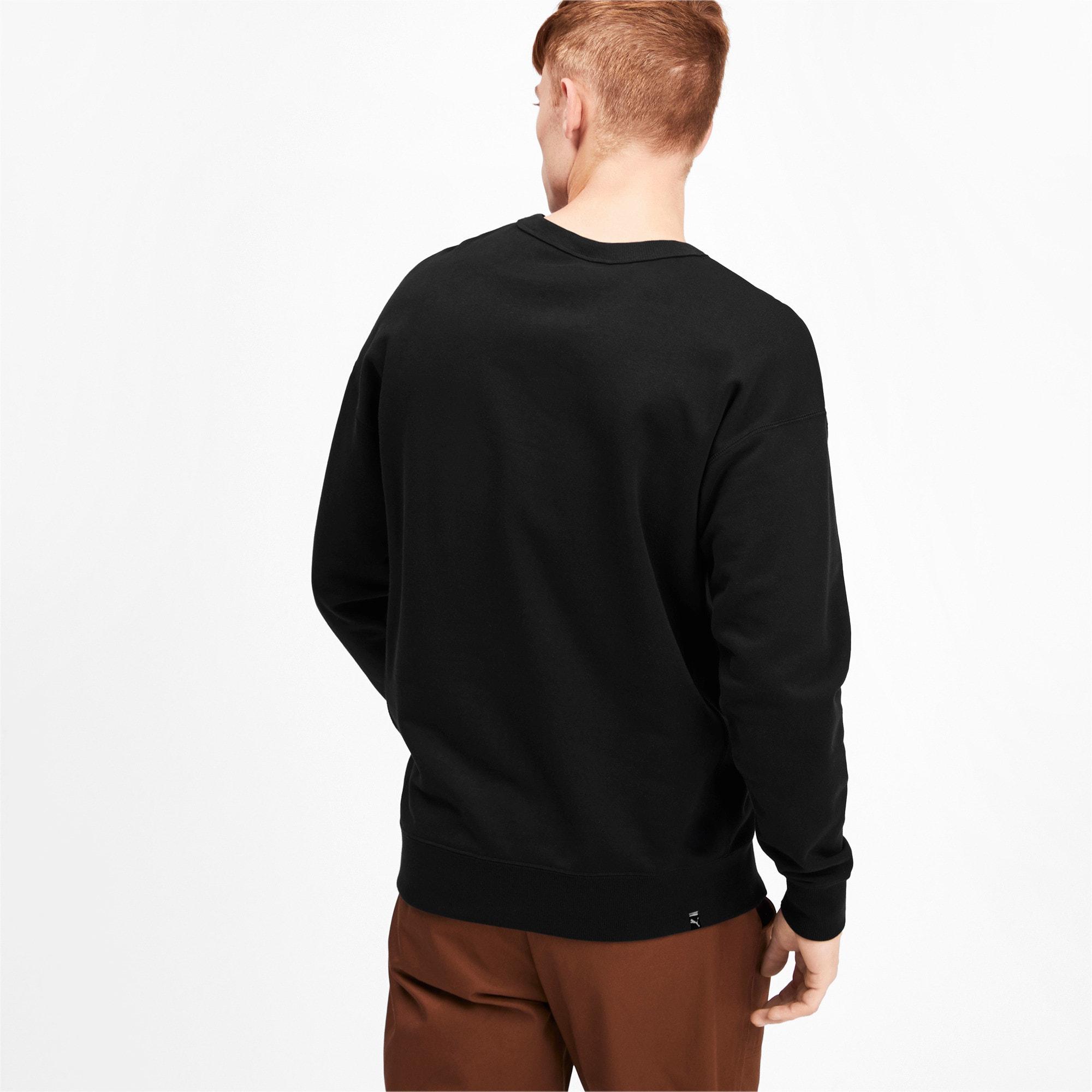 Thumbnail 3 of Downtown Men's Crewneck Sweatshirt, Puma Black, medium