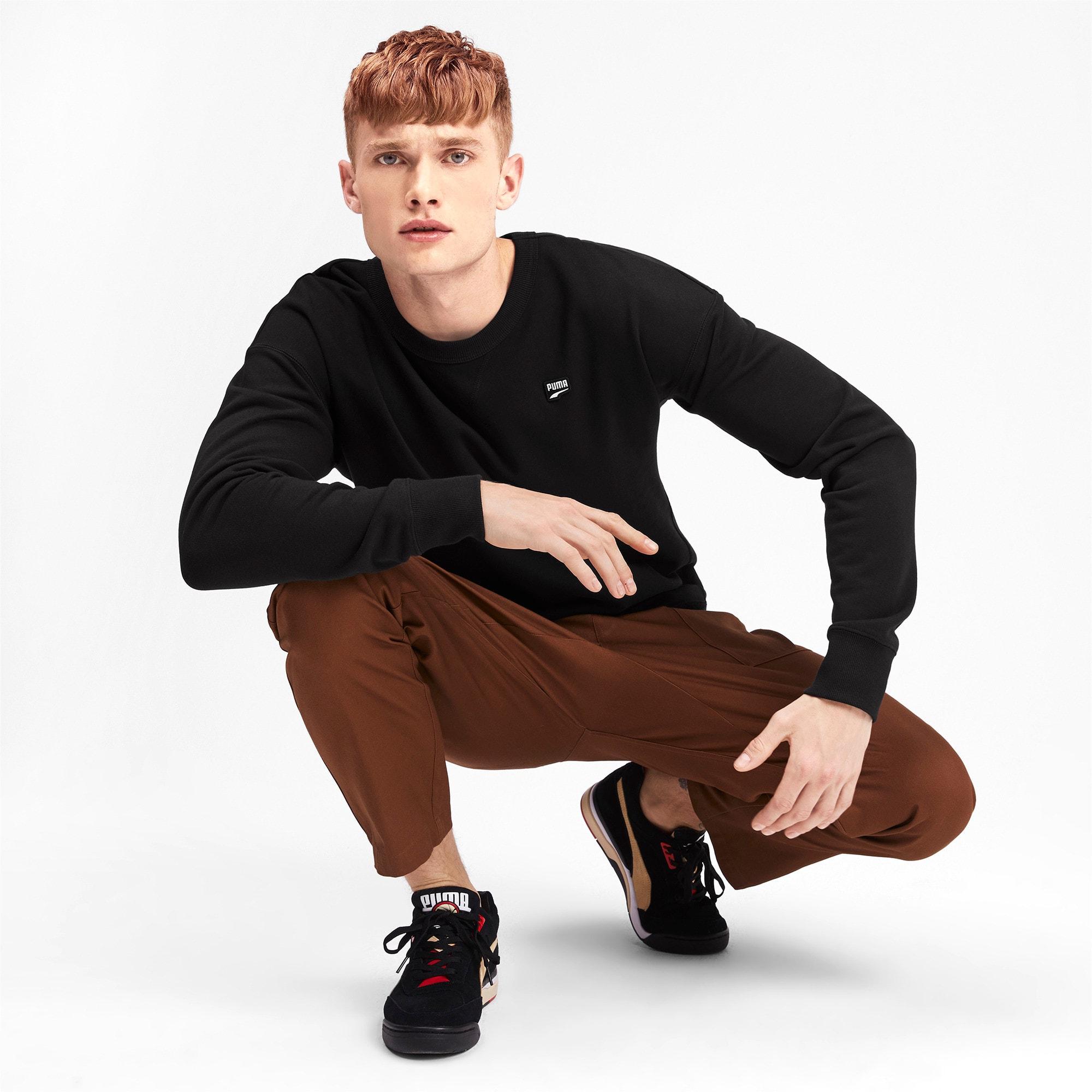 Thumbnail 4 of Downtown Men's Crewneck Sweatshirt, Puma Black, medium