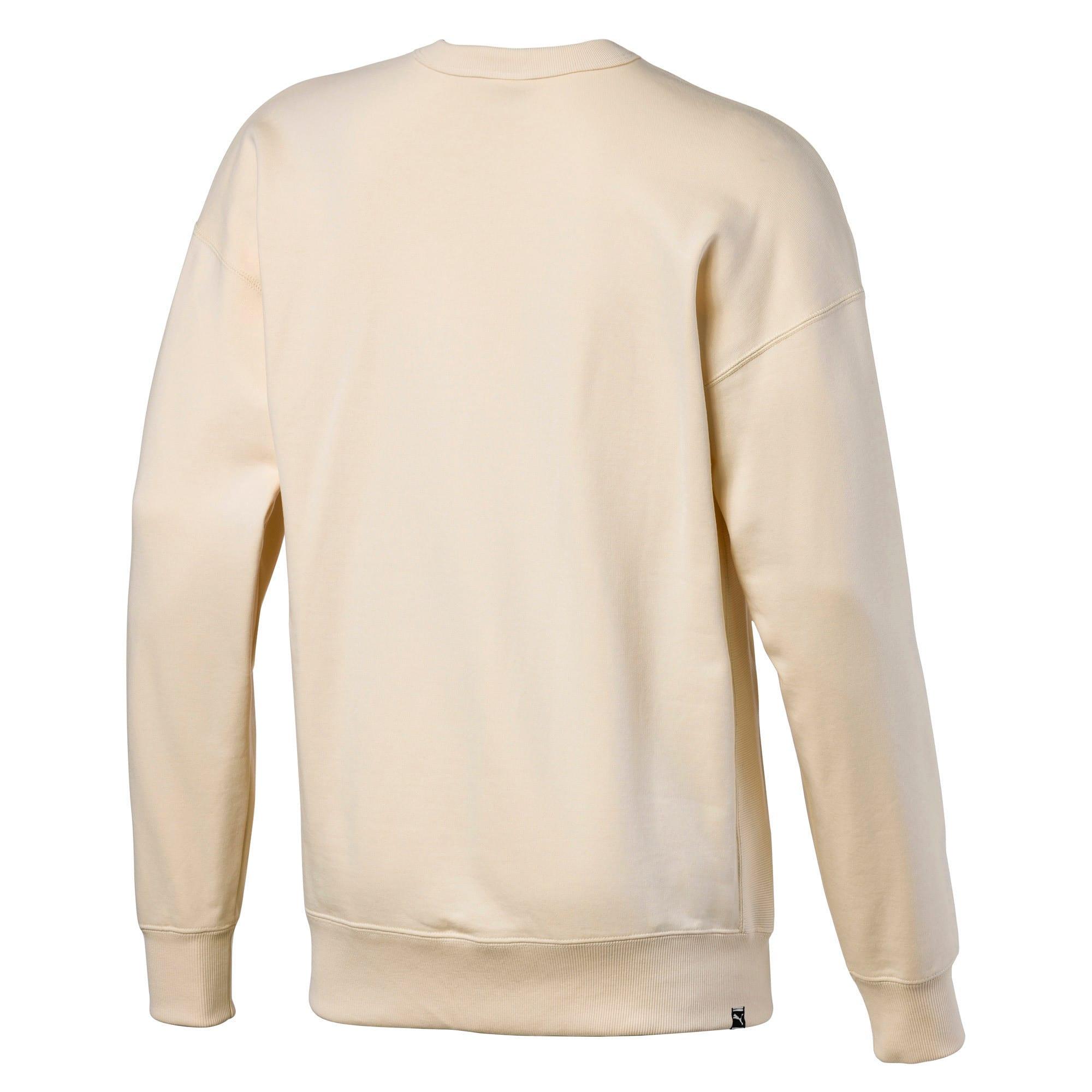 Thumbnail 5 of Downtown Men's Crewneck Sweatshirt, White Smoke, medium