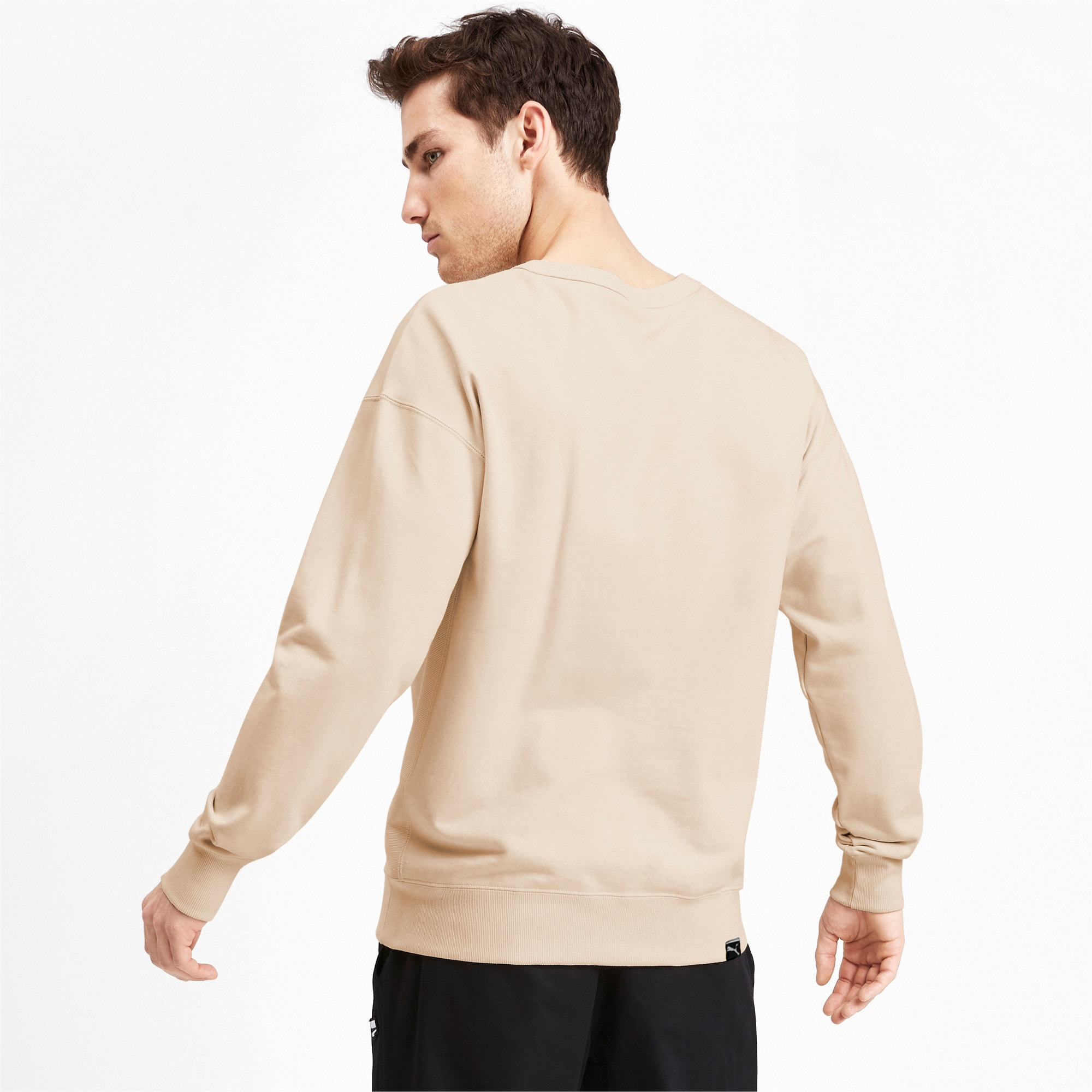 Thumbnail 3 of Downtown Men's Crewneck Sweatshirt, White Smoke, medium