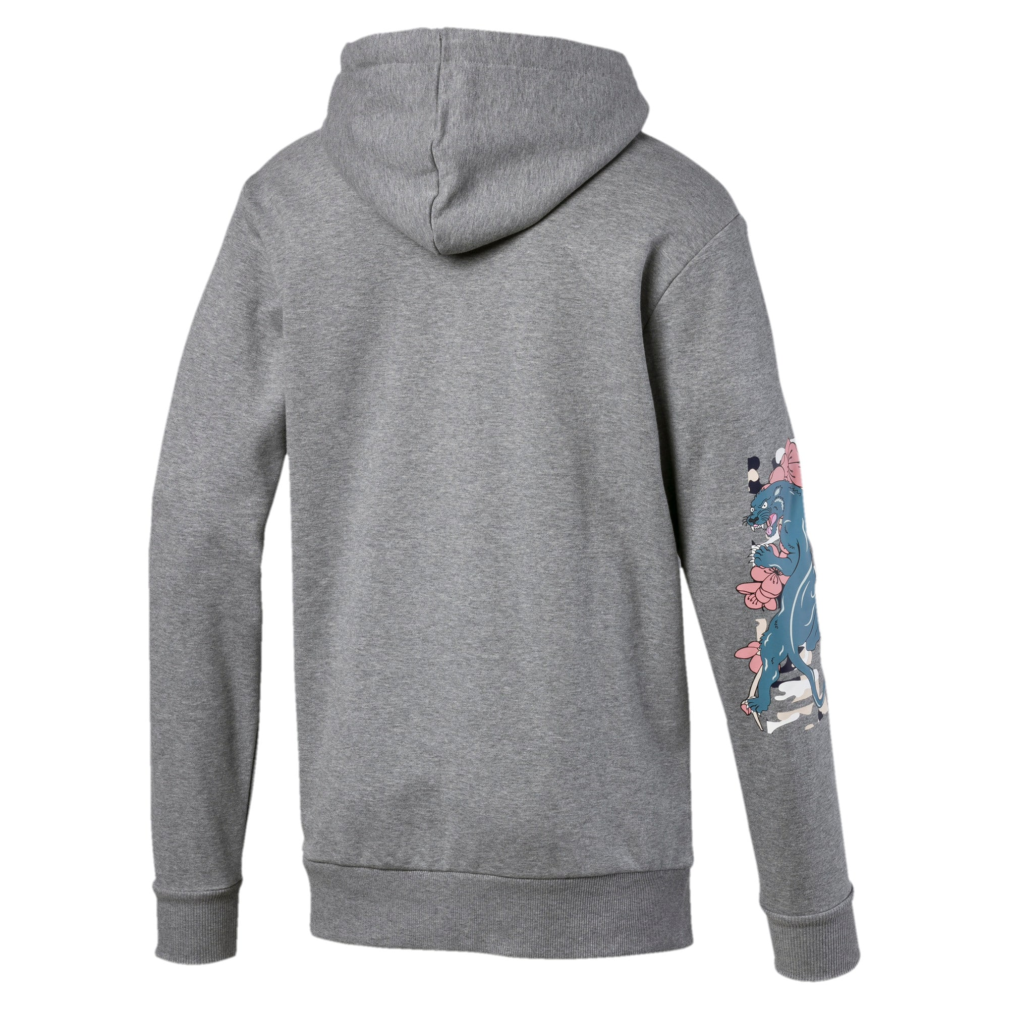 Miniatura 5 de Sudadera con capucha Sakura Pack para hombre, Medium Gray Heather, mediano