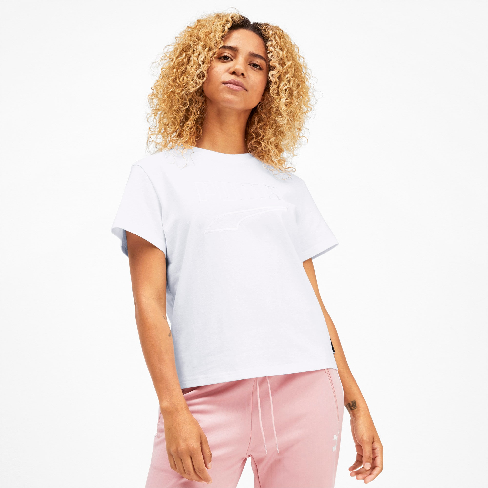 Miniatura 2 de CamisetaDowntown para mujer, Puma White, mediano