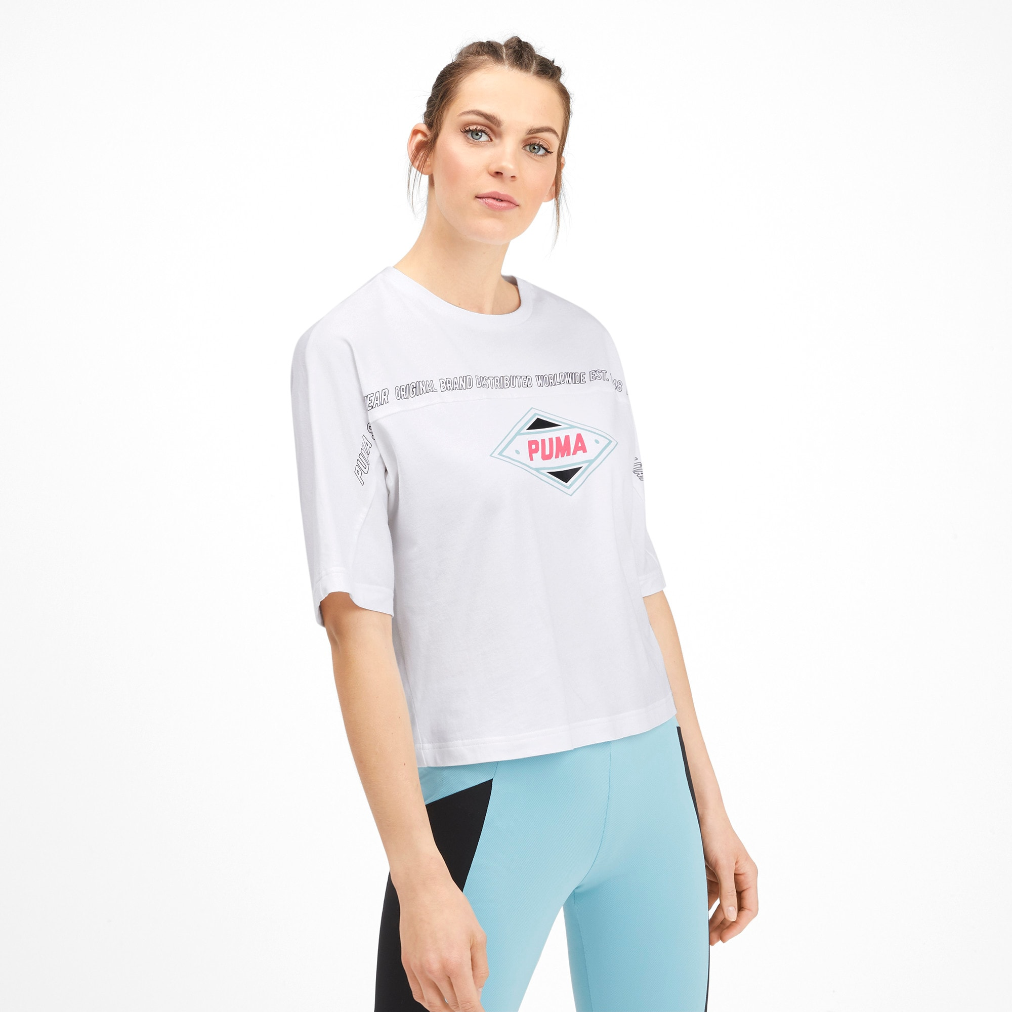 Thumbnail 2 of luXTG Women's Tee, Puma White, medium