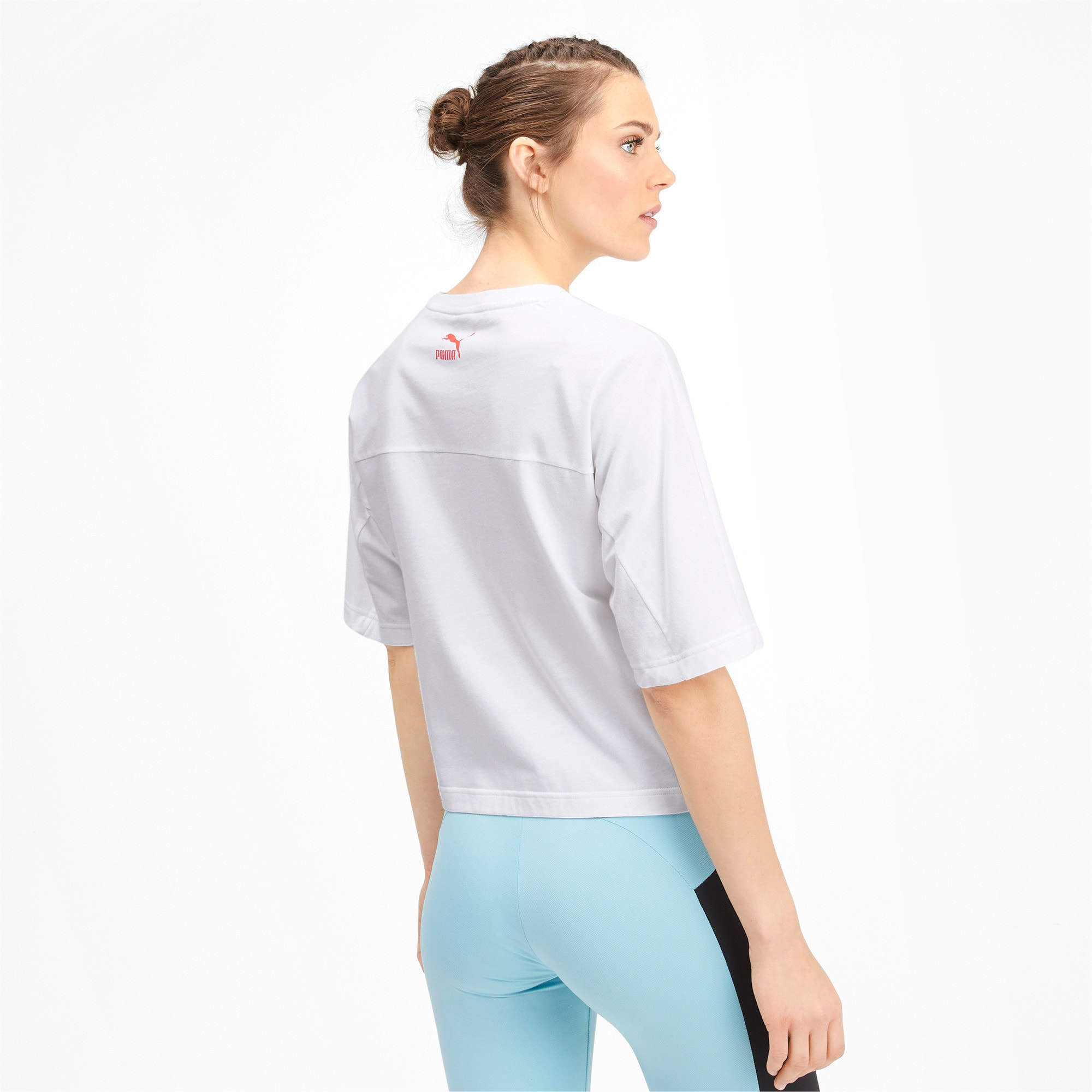 Thumbnail 3 of luXTG Women's Tee, Puma White, medium