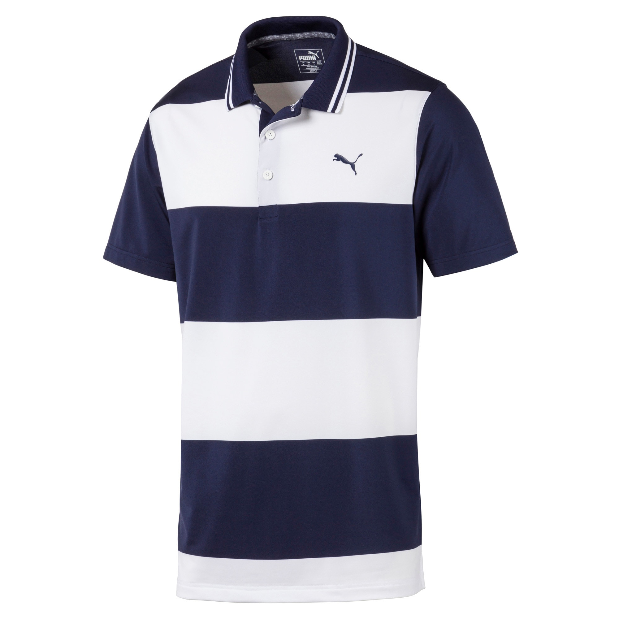 Thumbnail 4 of Rugby Men's Golf Polo, Peacoat-Bright White, medium