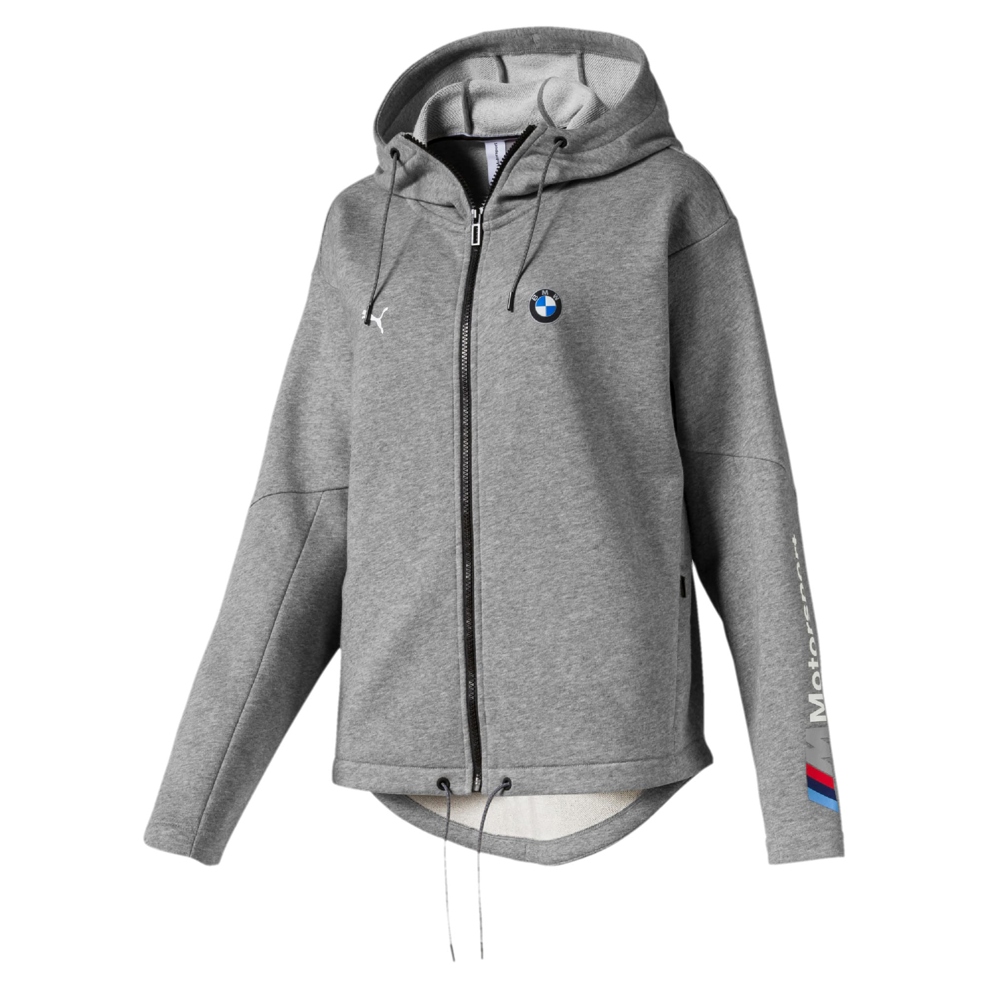 Thumbnail 1 of BMW M Motorsport Women's Sweat Jacket, Medium Gray Heather, medium