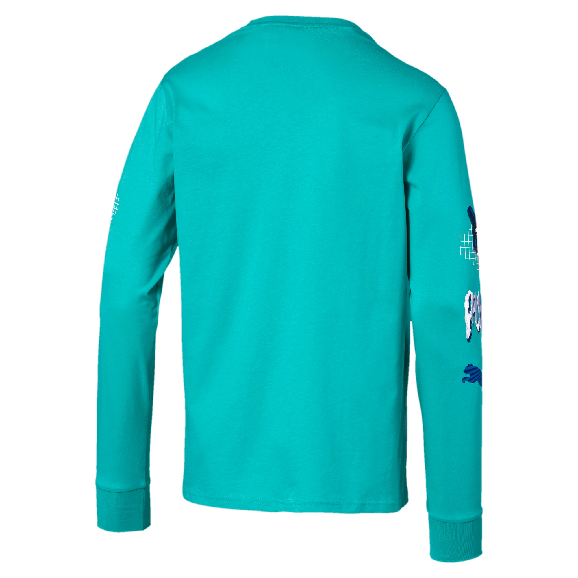 Thumbnail 5 of Claw Pack Men's Long Sleeve Tee, Blue Turquoise, medium