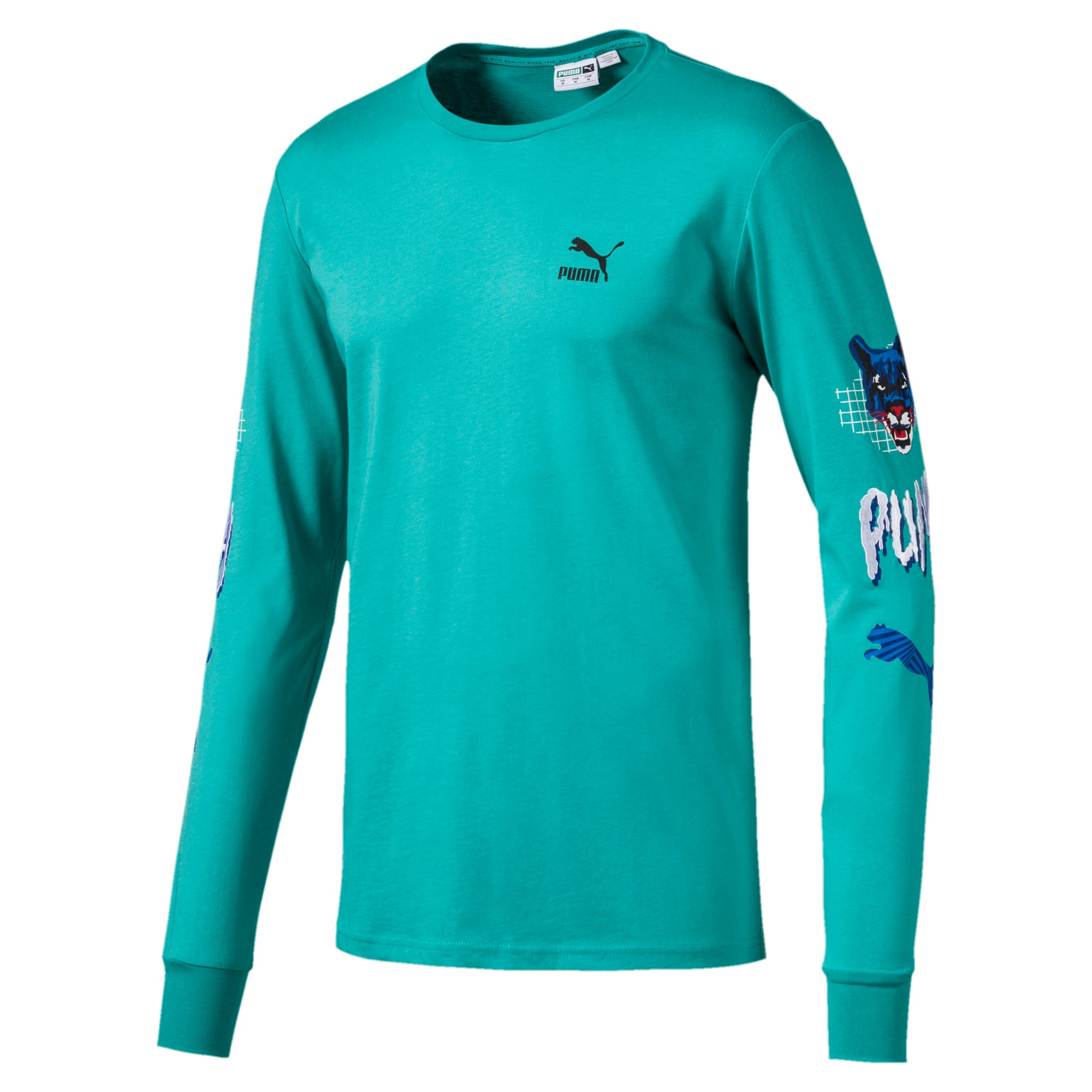 Thumbnail 1 of Claw Pack Men's Long Sleeve Tee, Blue Turquoise, medium