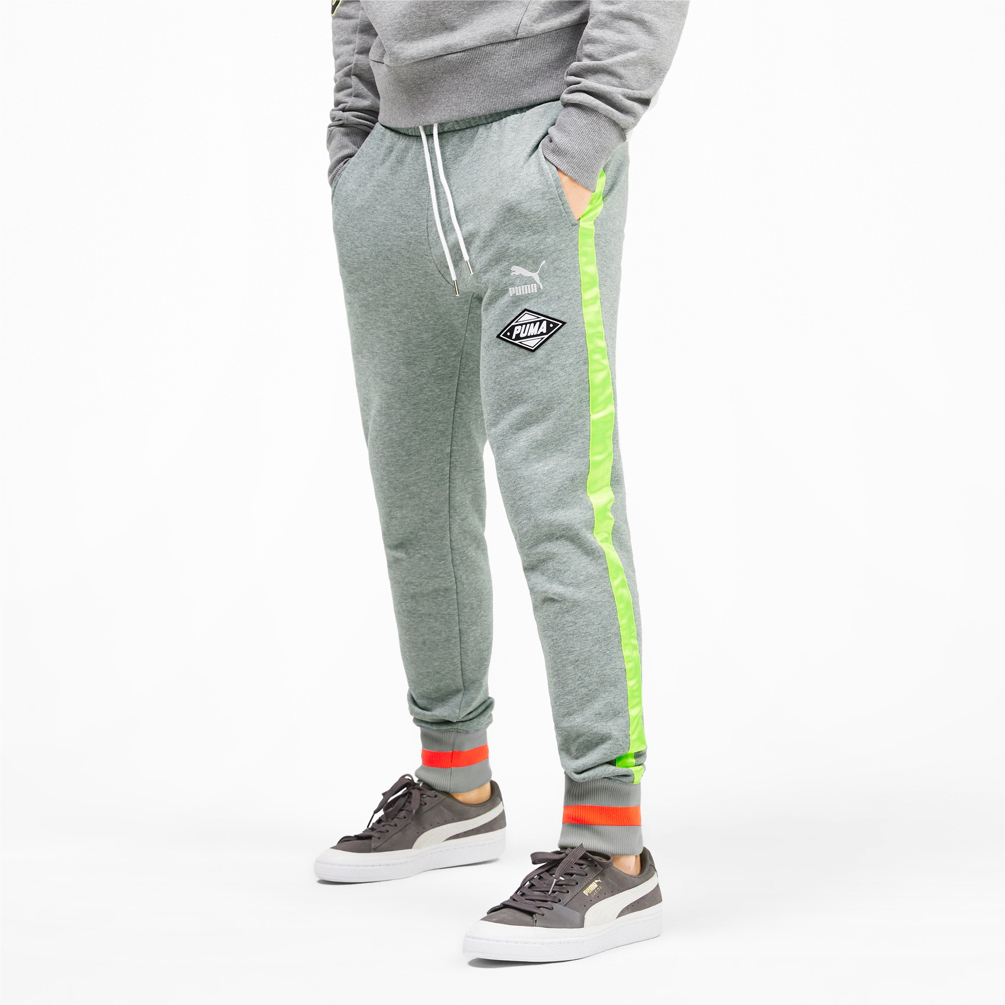 Thumbnail 2 of luXTG Men's Cuffed Sweatpants, Medium Gray Heather, medium