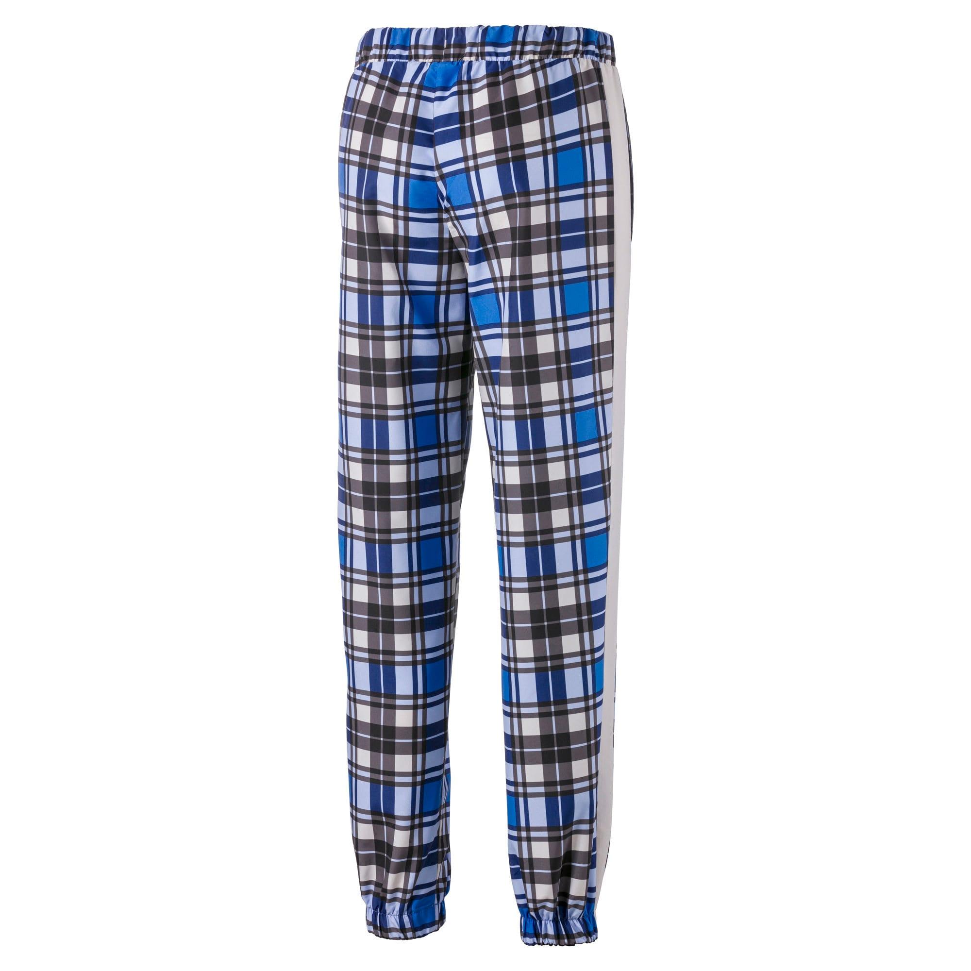 Anteprima 3 di Check Woven Women's Jog Pants, Strong Blue, medio