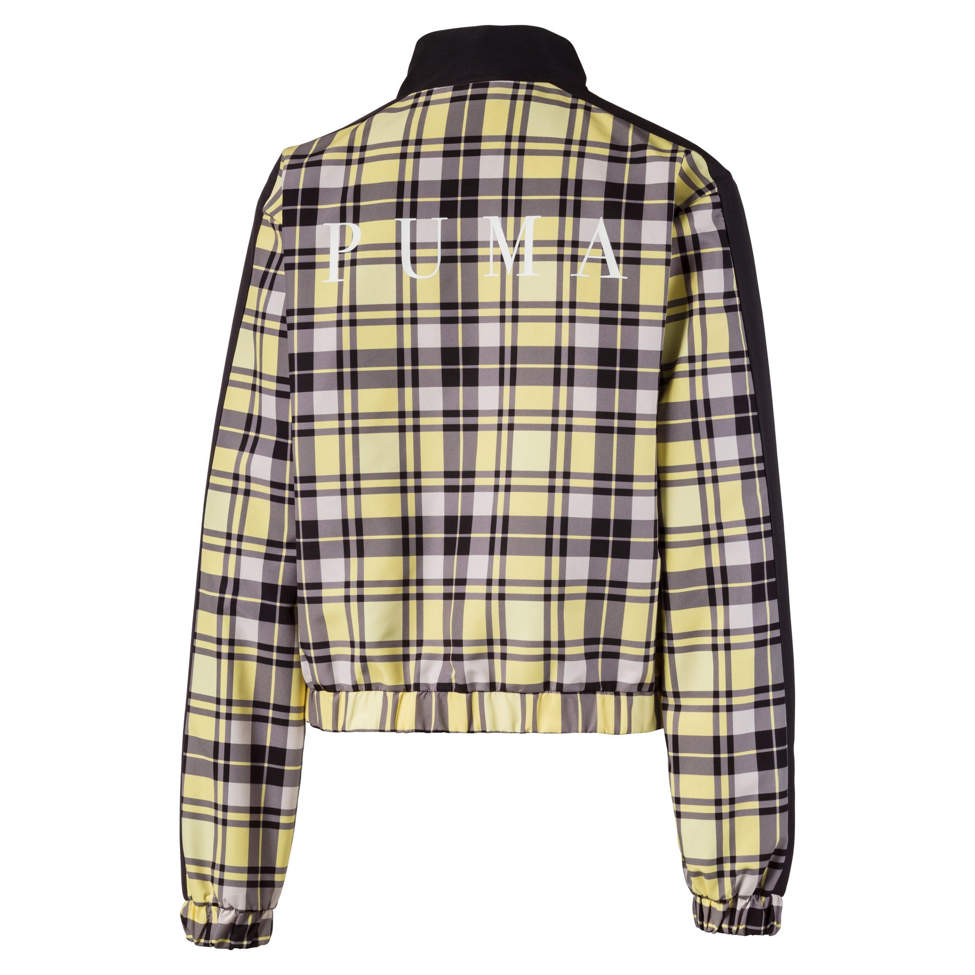 Anteprima 4 di Check Full Zip Women's Jacket, Yellow Cream, medio