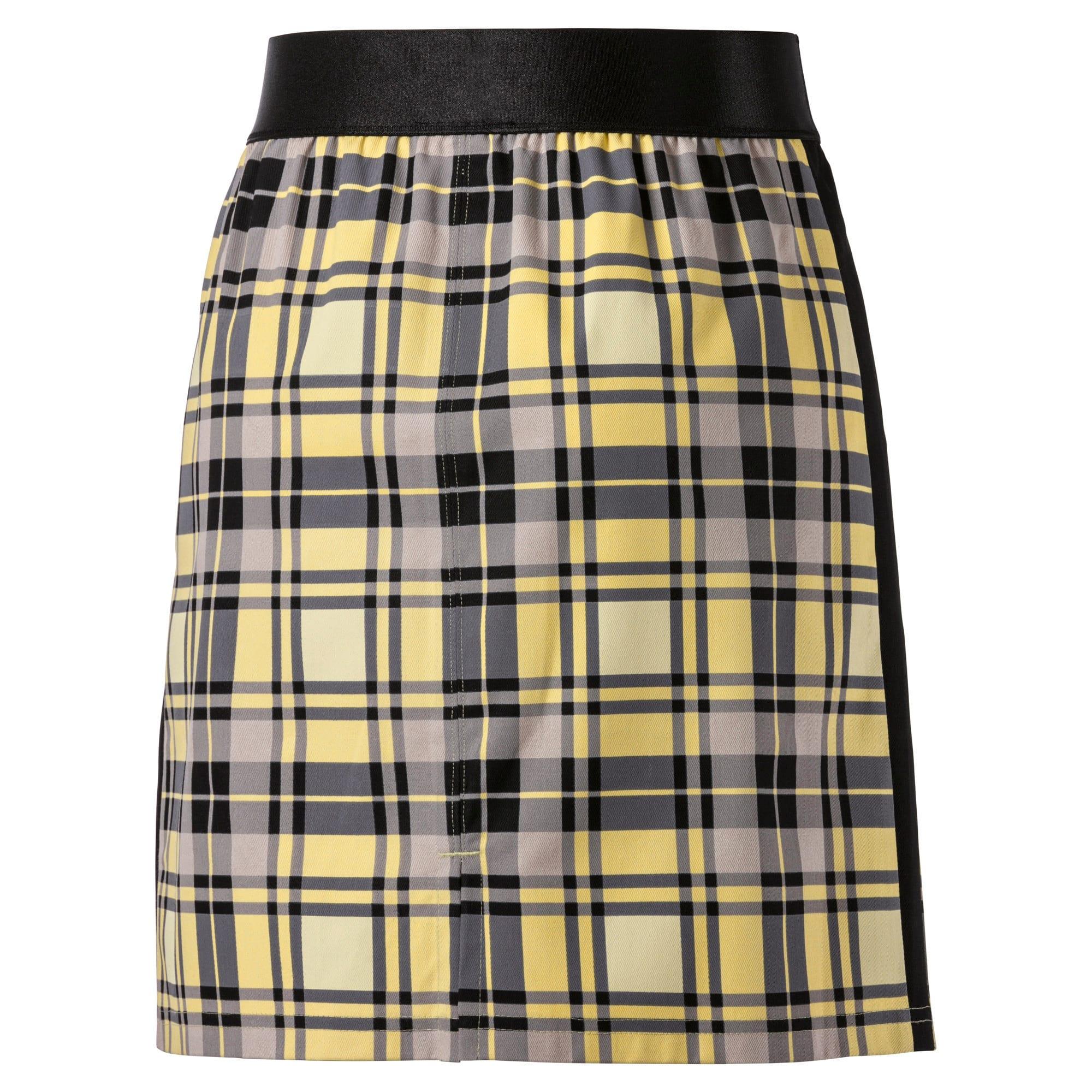 Anteprima 3 di Check Women's Skirt, Yellow Cream, medio