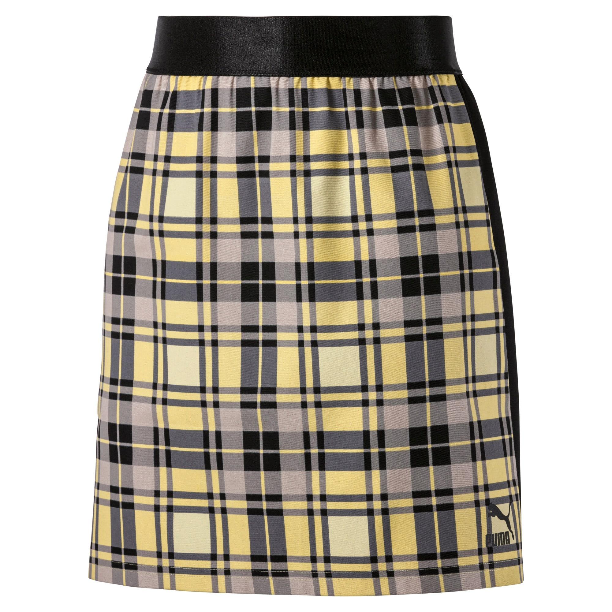 Anteprima 2 di Check Women's Skirt, Yellow Cream, medio
