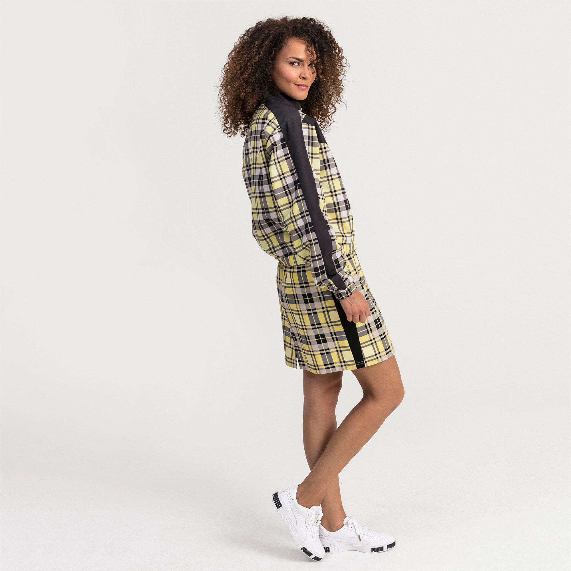 Anteprima 1 di Check Women's Skirt, Yellow Cream, medio