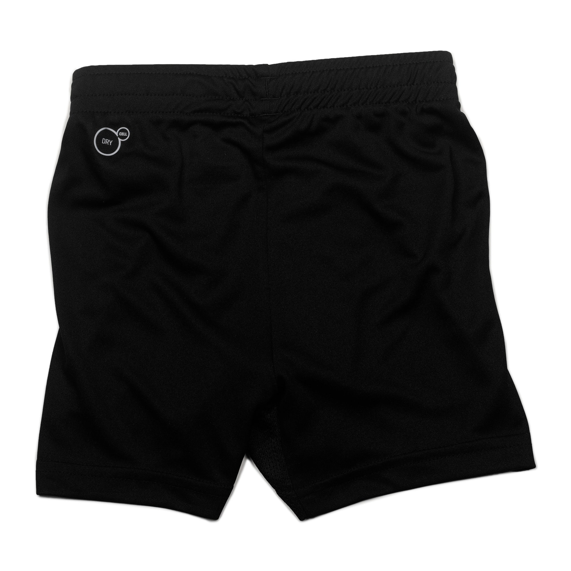 Thumbnail 2 of ftblTRG Kids' Football Training Shorts, Puma Black-Puma White, medium-IND
