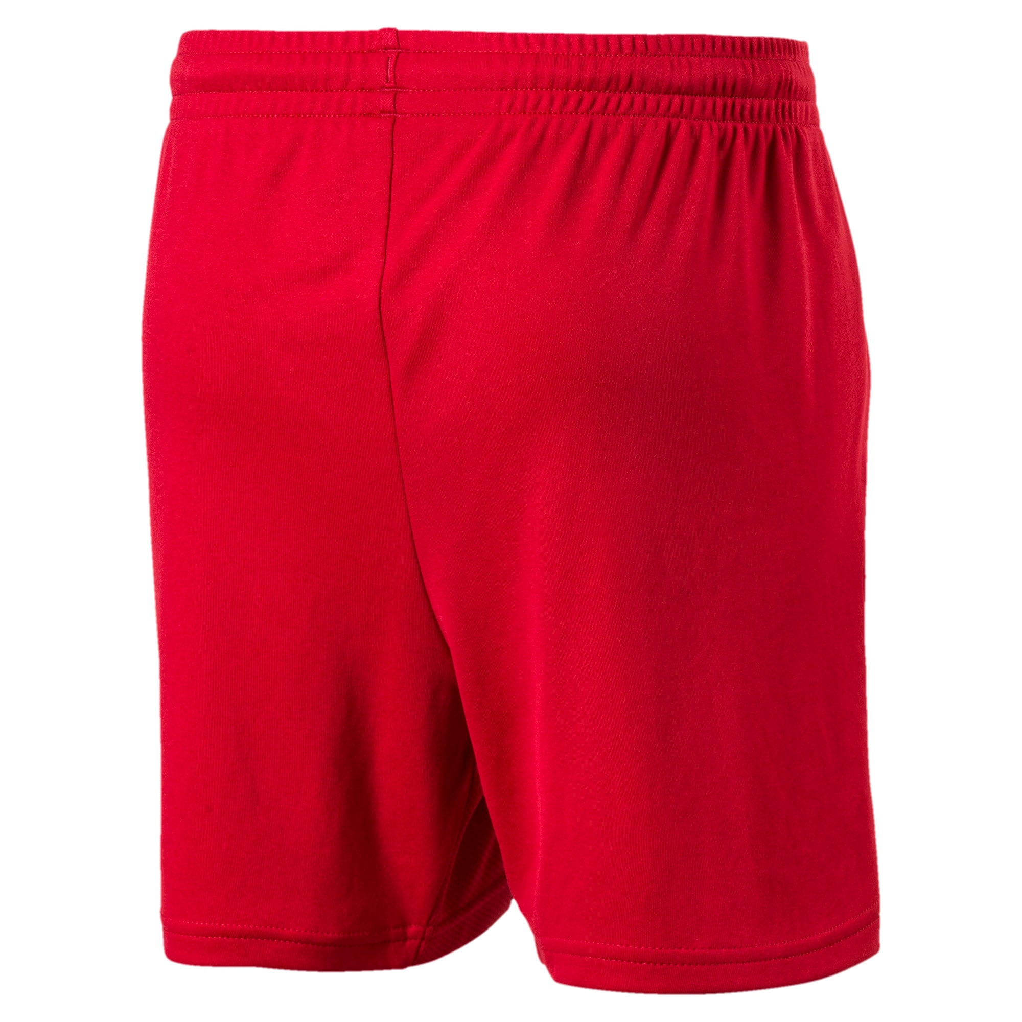 Thumbnail 2 of ftblTRG Kids' Football Training Shorts, Chili Pepper-Puma White, medium-IND